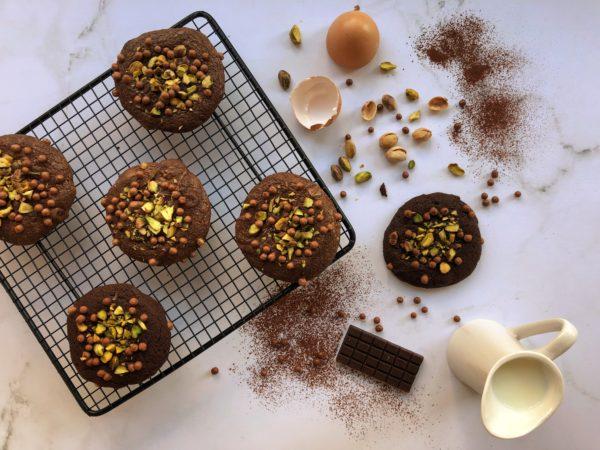 Cookie tout chocolat & pistache