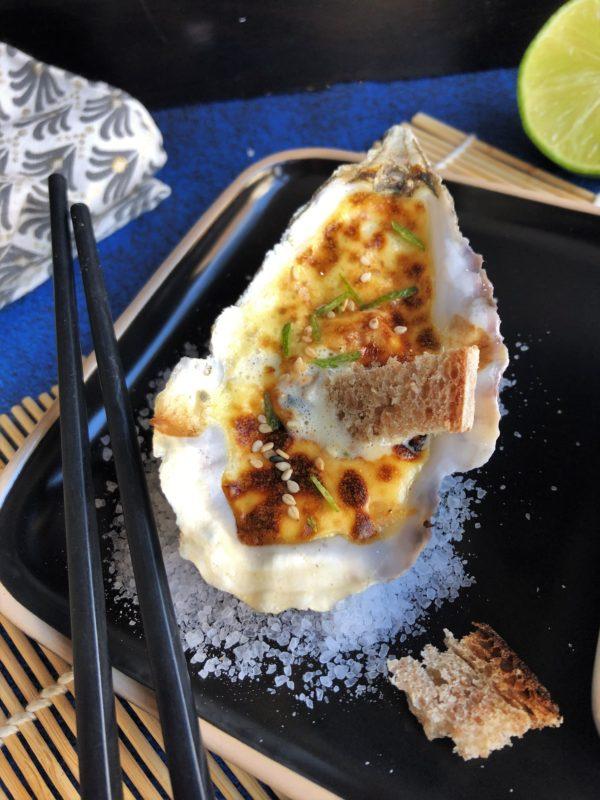 Huître au sabayon yuzu