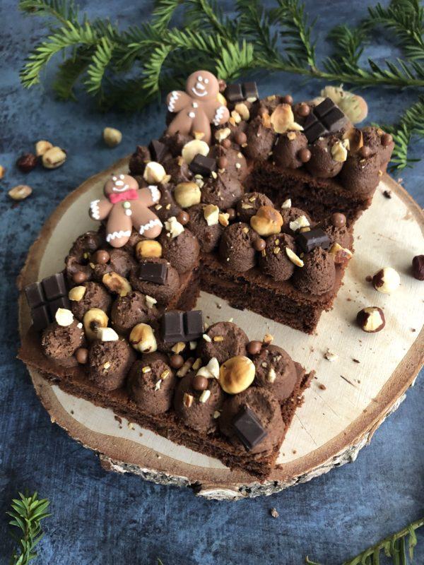 Letter cake NOEL : Chocolat praliné