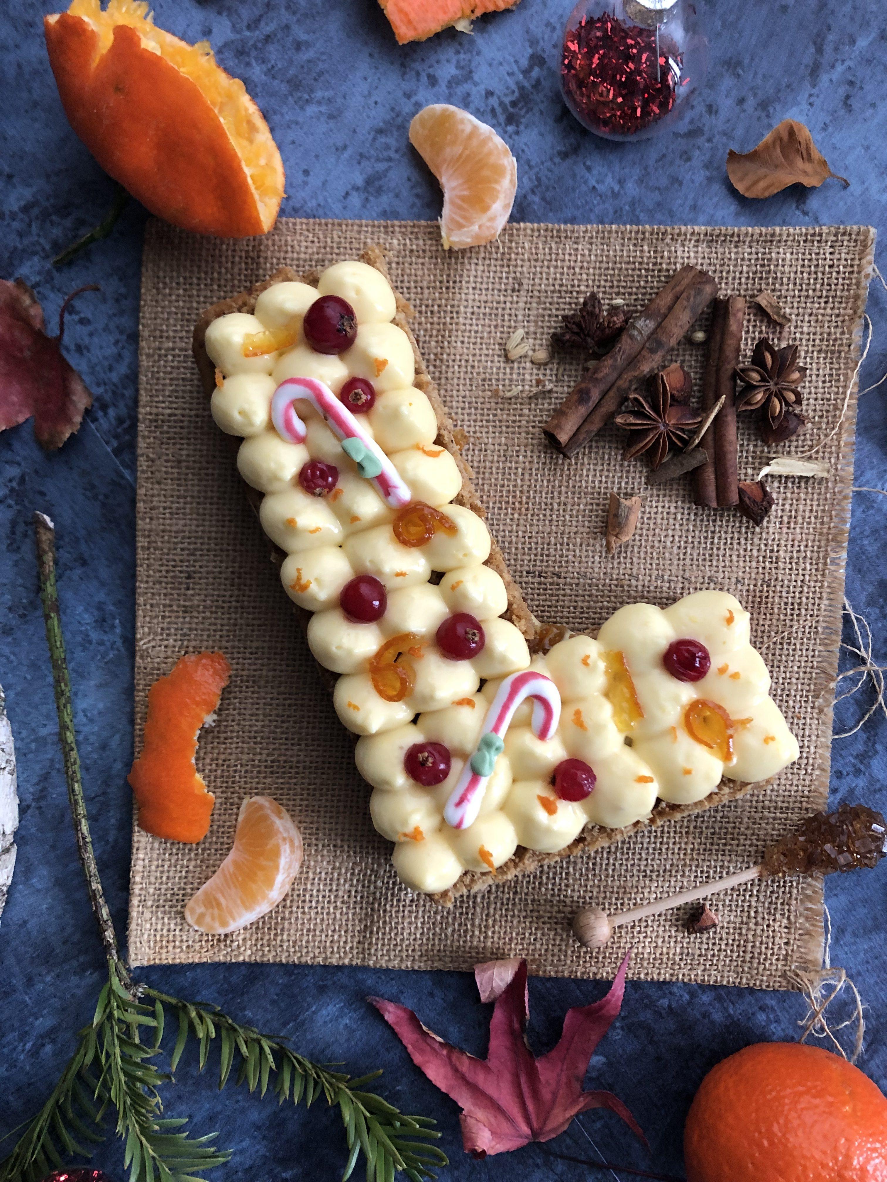 Letter cake NOEL : pain d'épices et clémentine