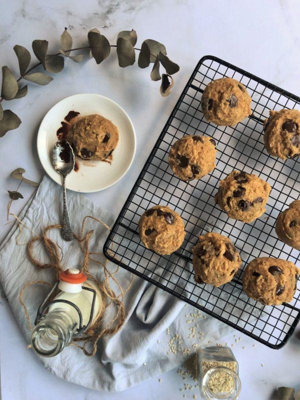 Cookie au sésame et pépites de chocolat