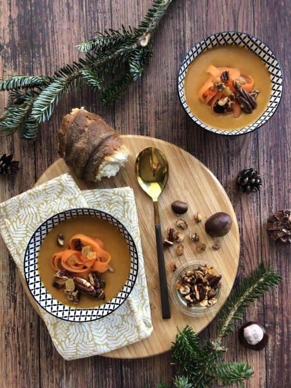 Soupe carotte & châtaigne