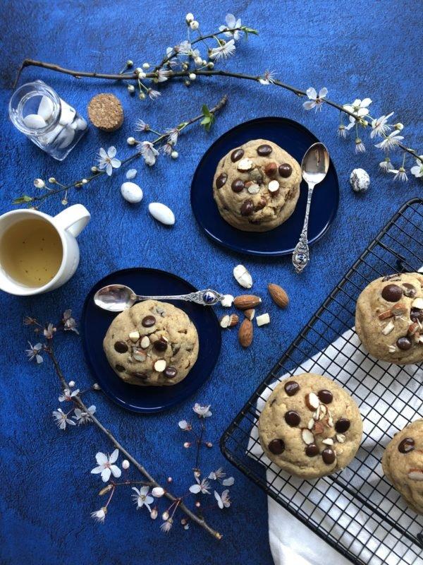 Cookie amande, chocolat et huile d'olive