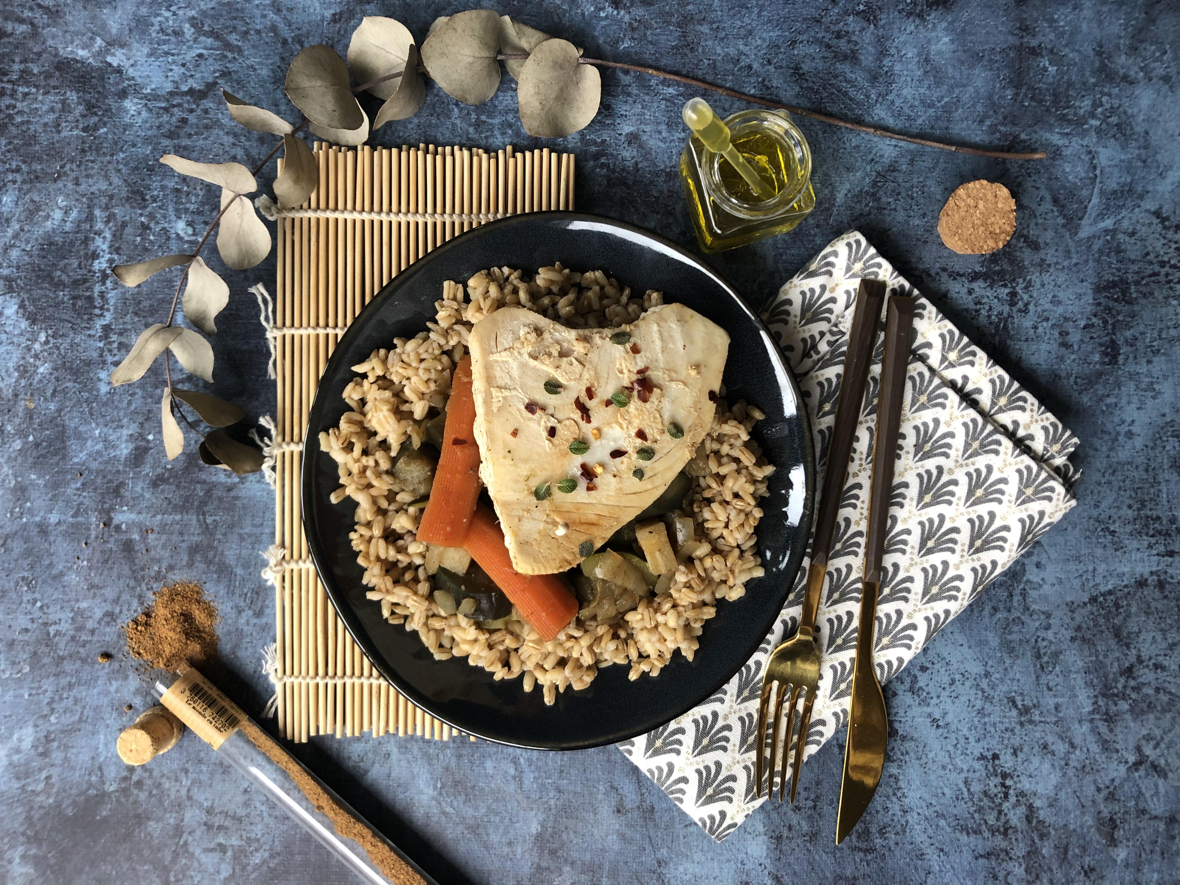 Tajine de thon blanc façon couscous