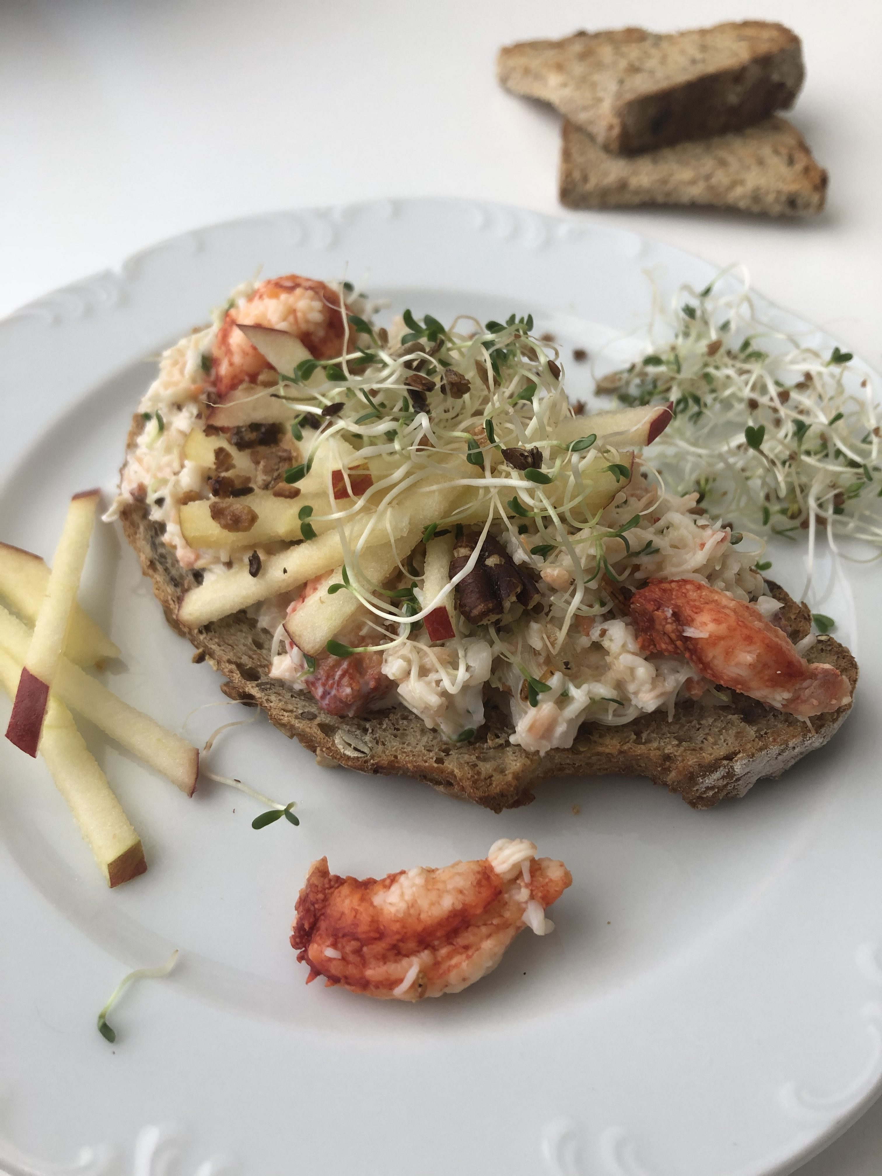Tartine au crabe