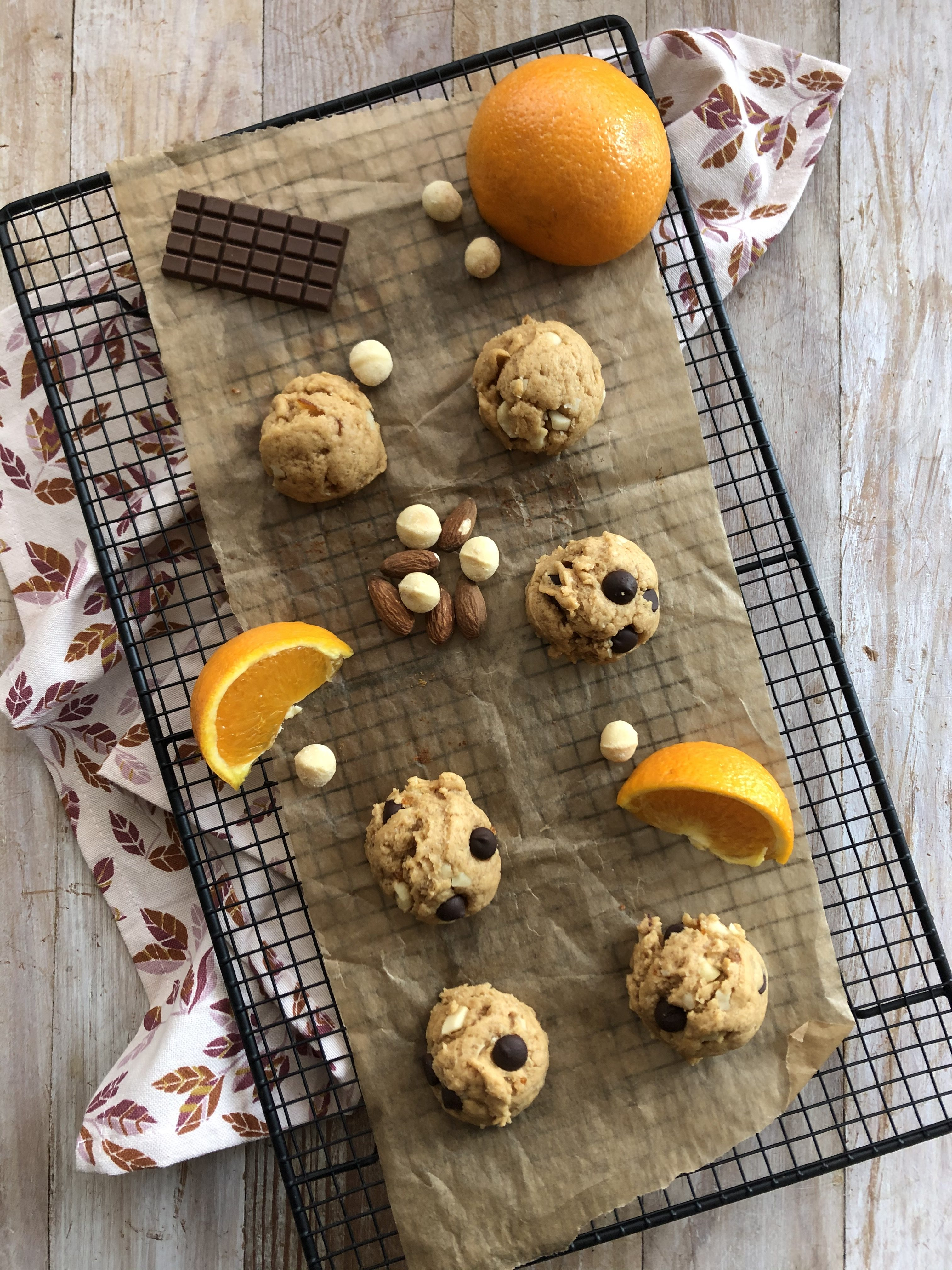 Cookie orange & macadamia