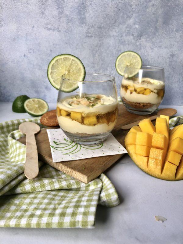 Tiramisu coco, mangue et citron vert
