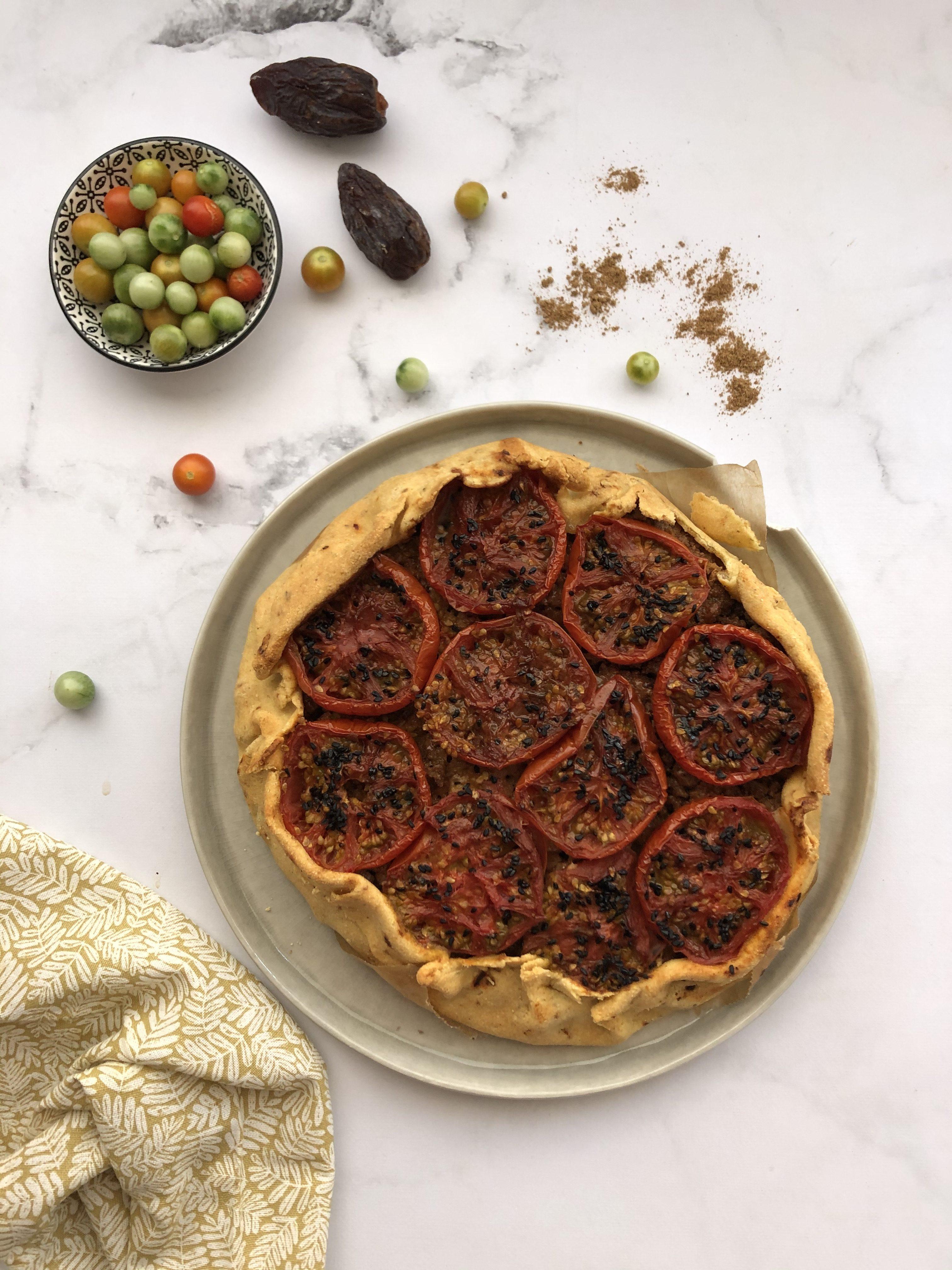 Tarte tomate confite kefta, façon Tartes Françoise