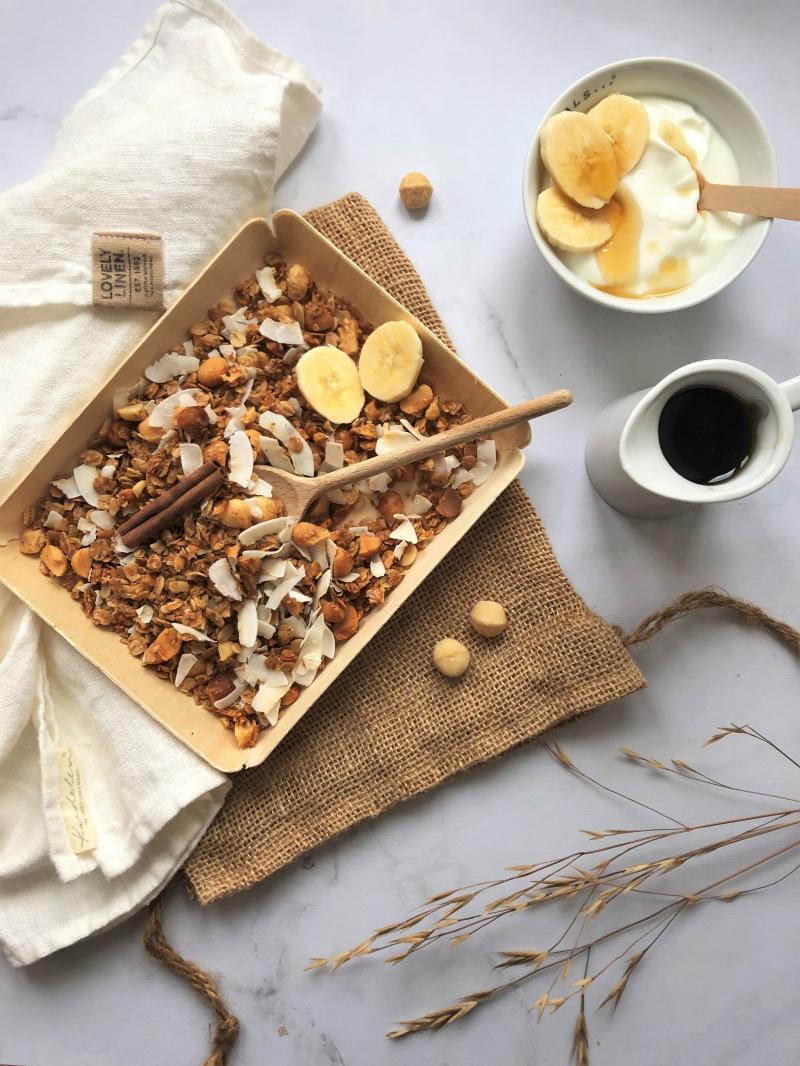 Granola coco, macamadia et sirop d'érable [muesli]