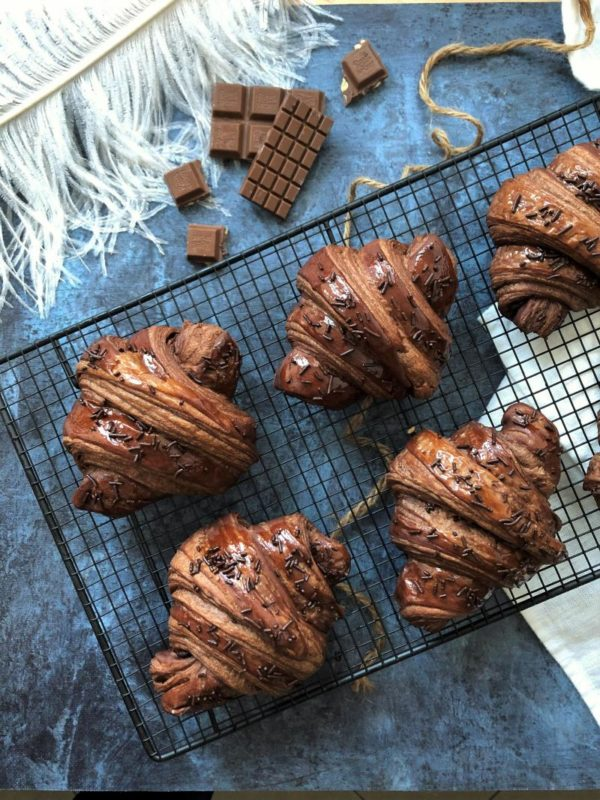 Croissant tout chocolat, fourré au nutella