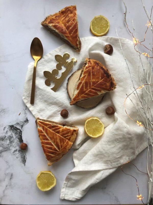 Galette des rois citron-noisette
