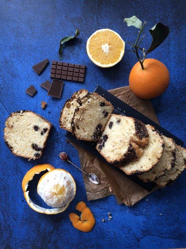 Cake à l'orange et chocolat