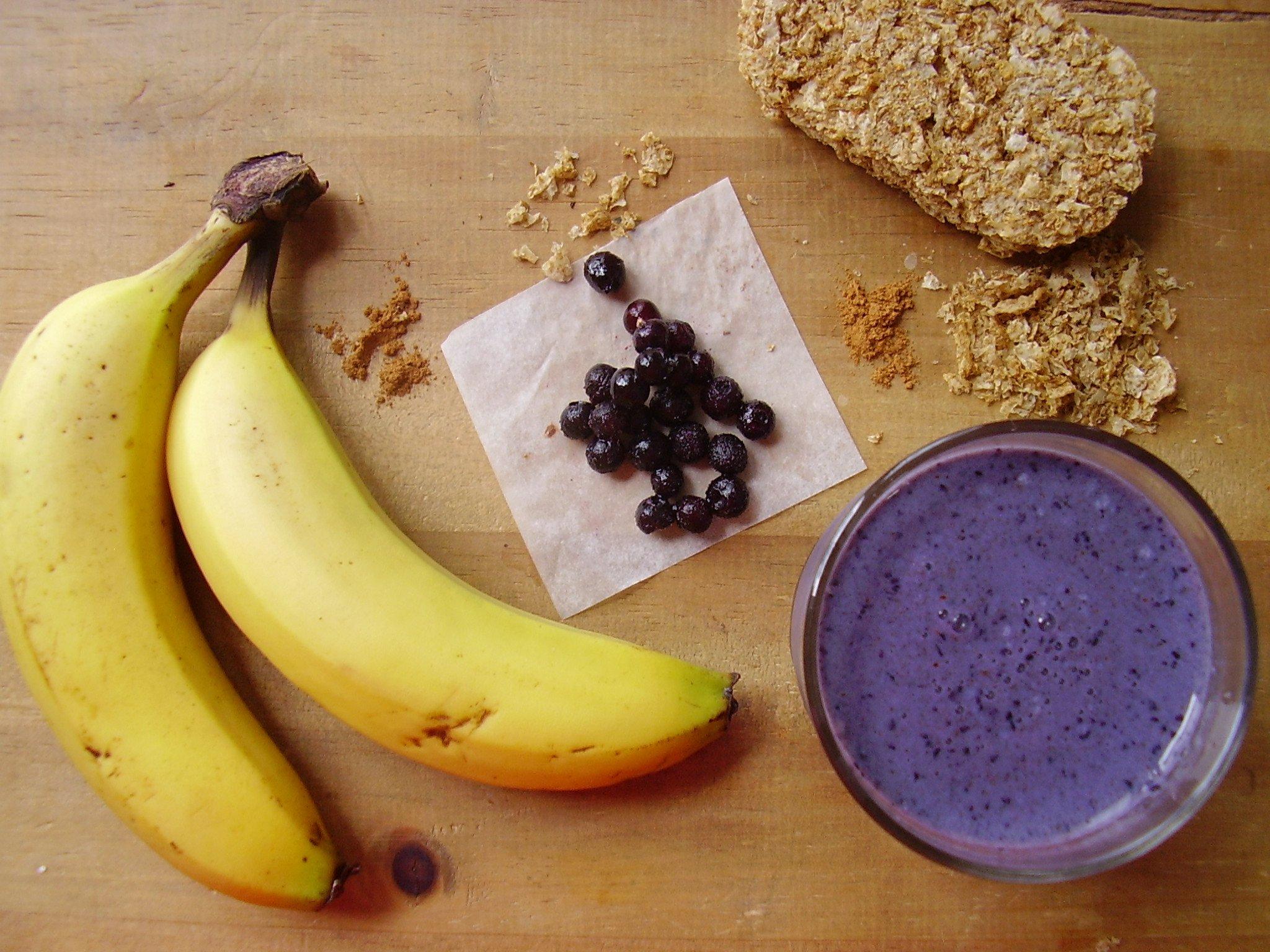 Milkshake vitalité : banane-myrtille