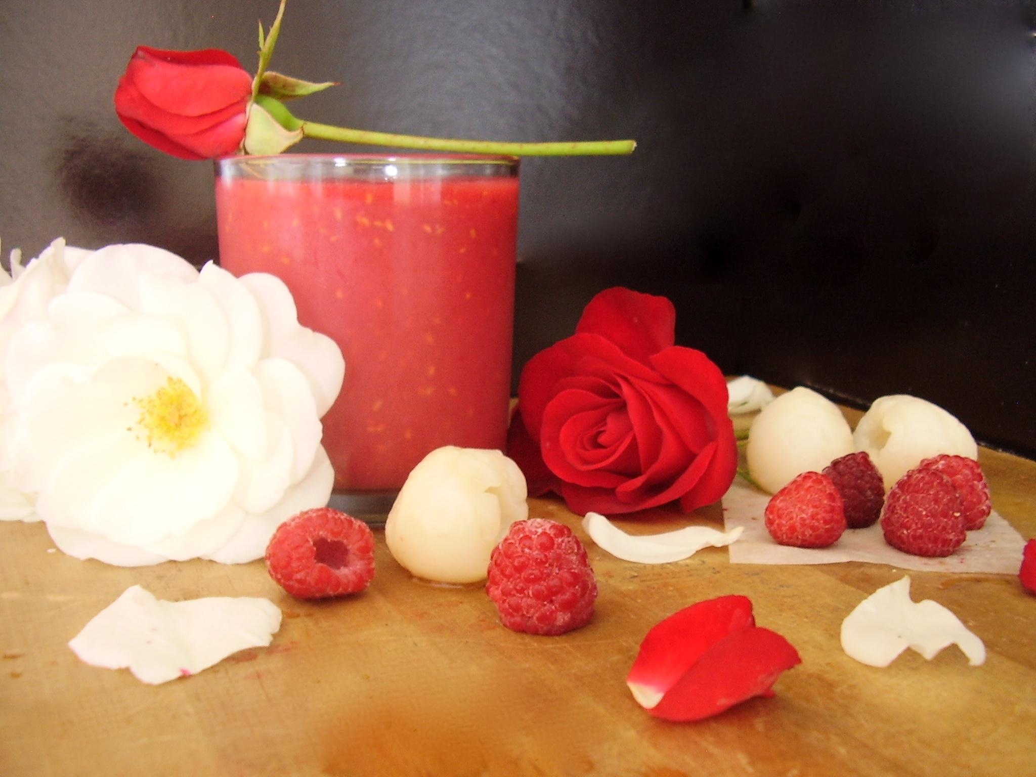 Smoothie Bali (rose, framboise, litchi)