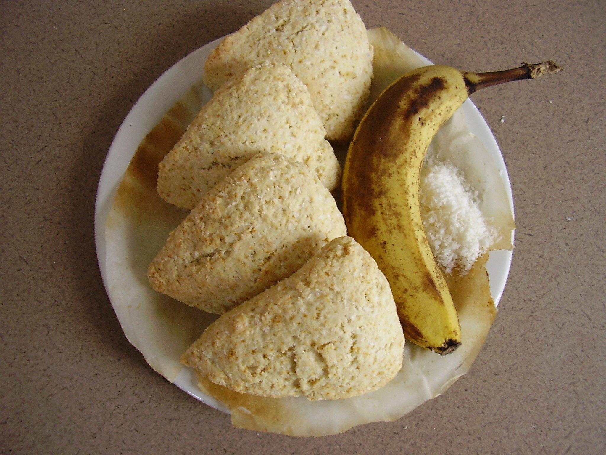 Scones Banane-Coco