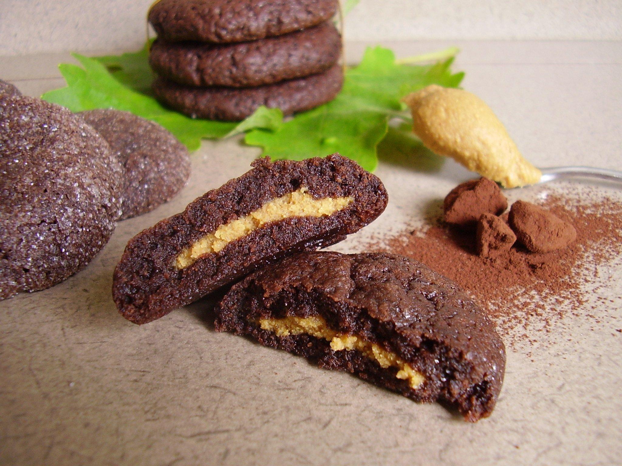 Cookies noir intense et beurre de cacahuète