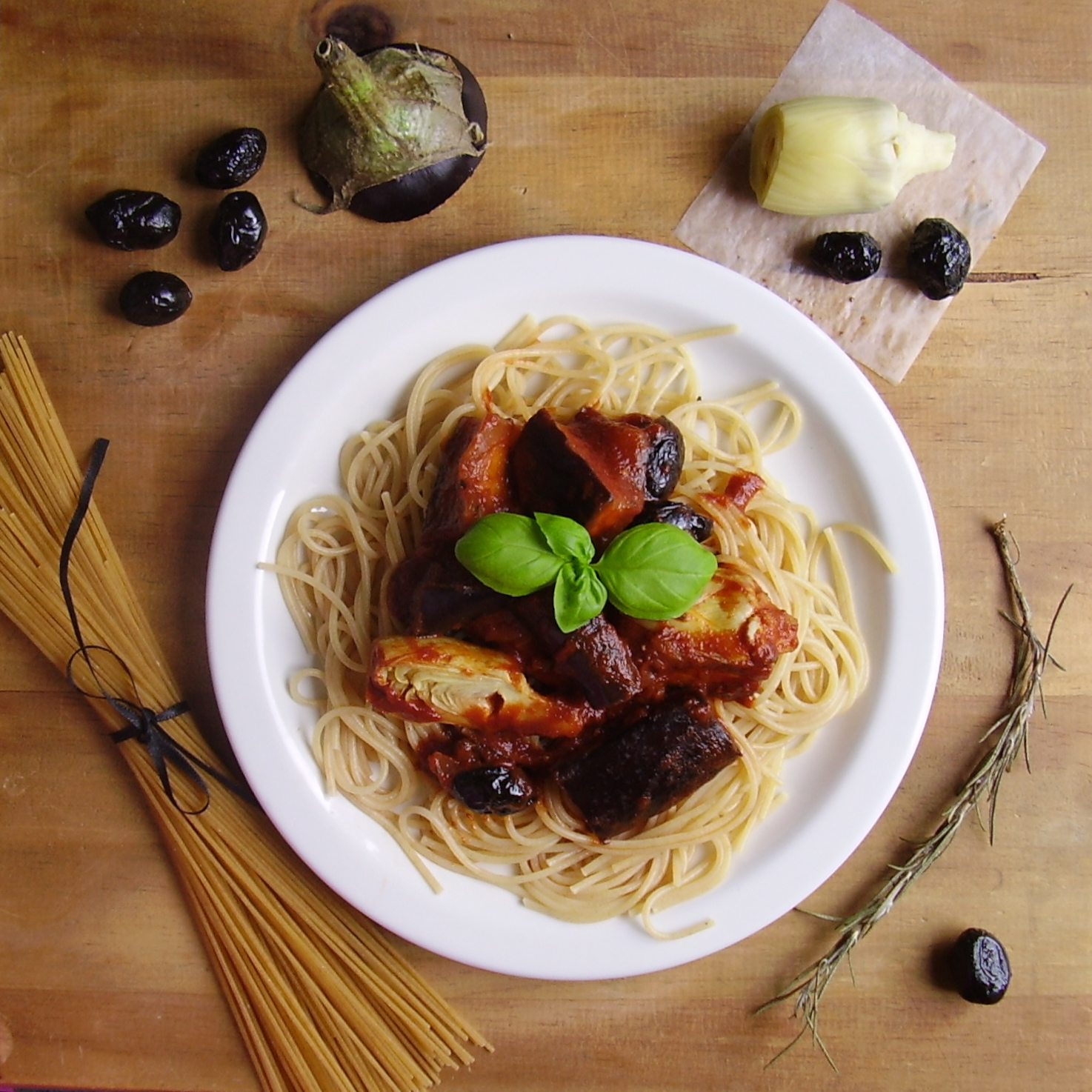 Spaghettis à la méditerranéenne