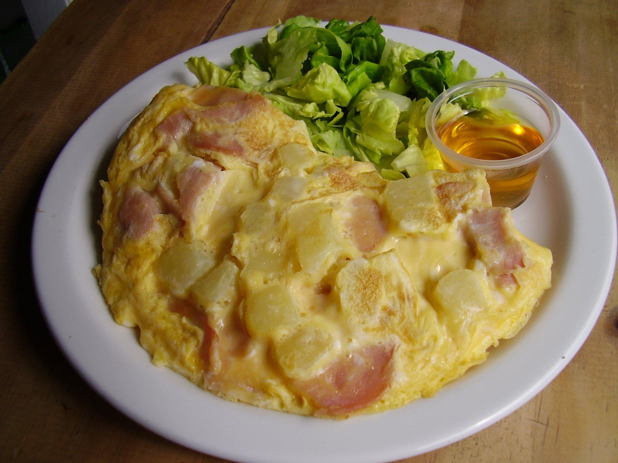 Omelette bacon-pomme de terre