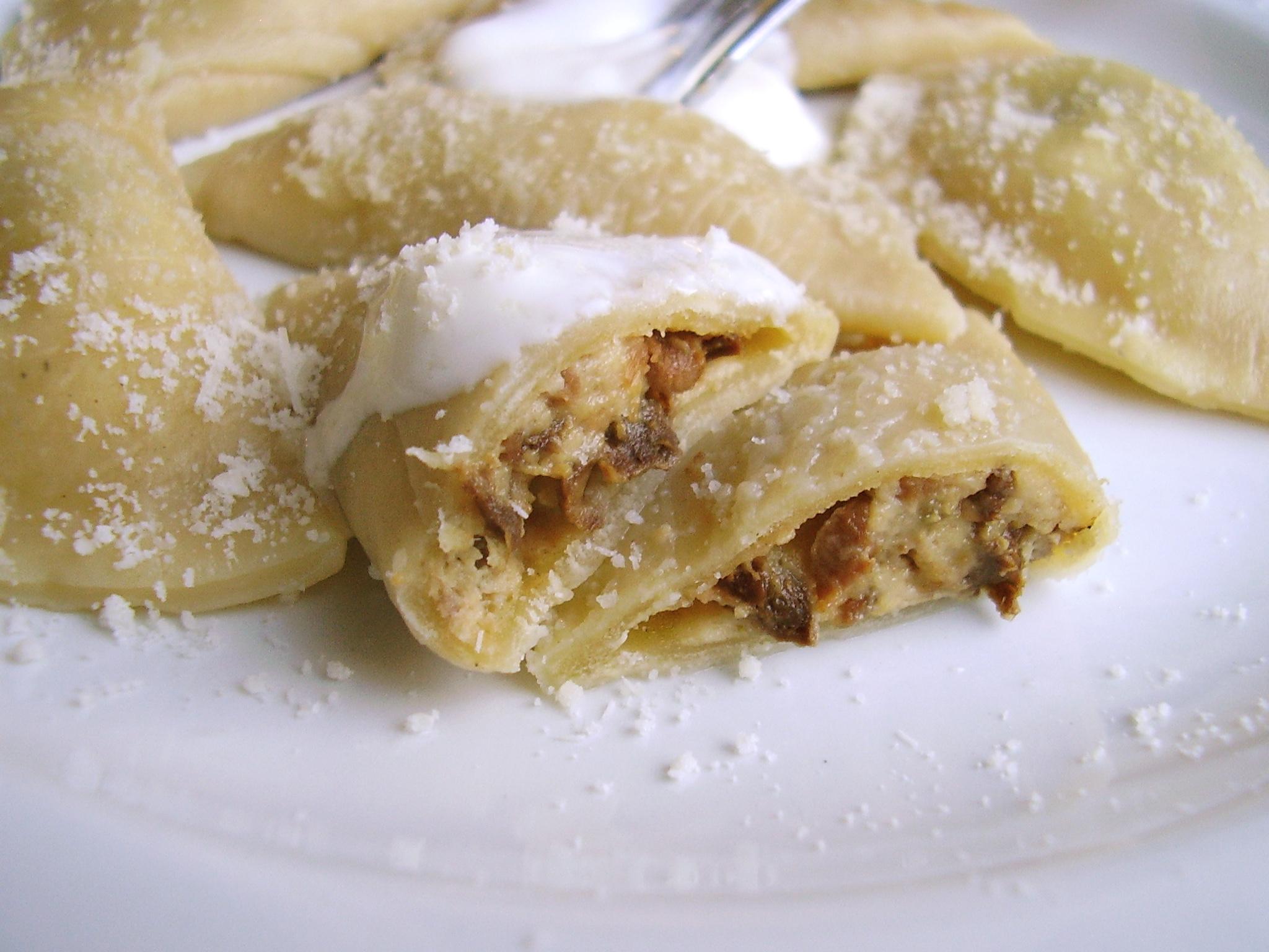 Raviolis cèpes-parmesan