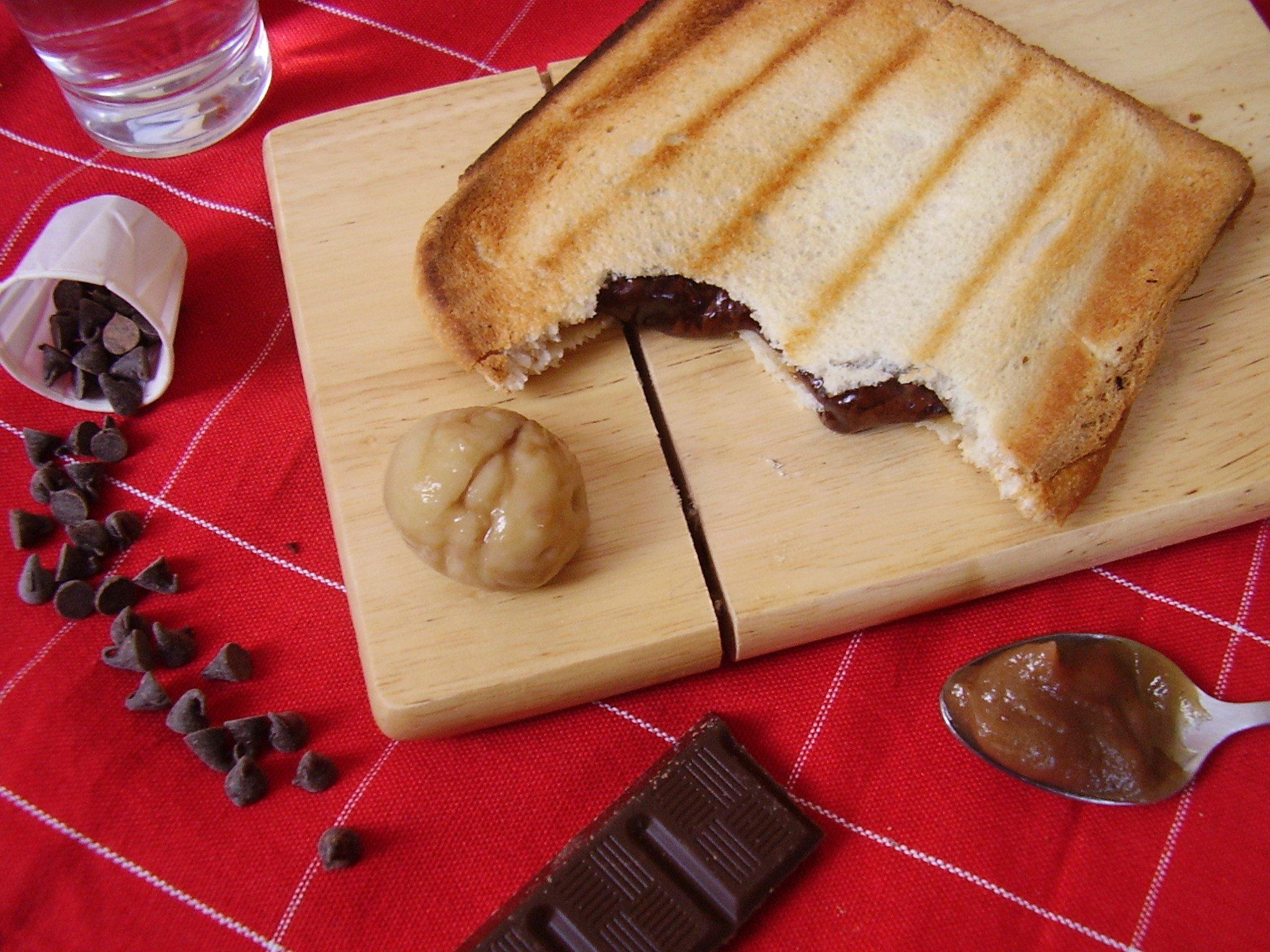 Croque Ardéchois (Chocolat-Crème de marron-Rhum)