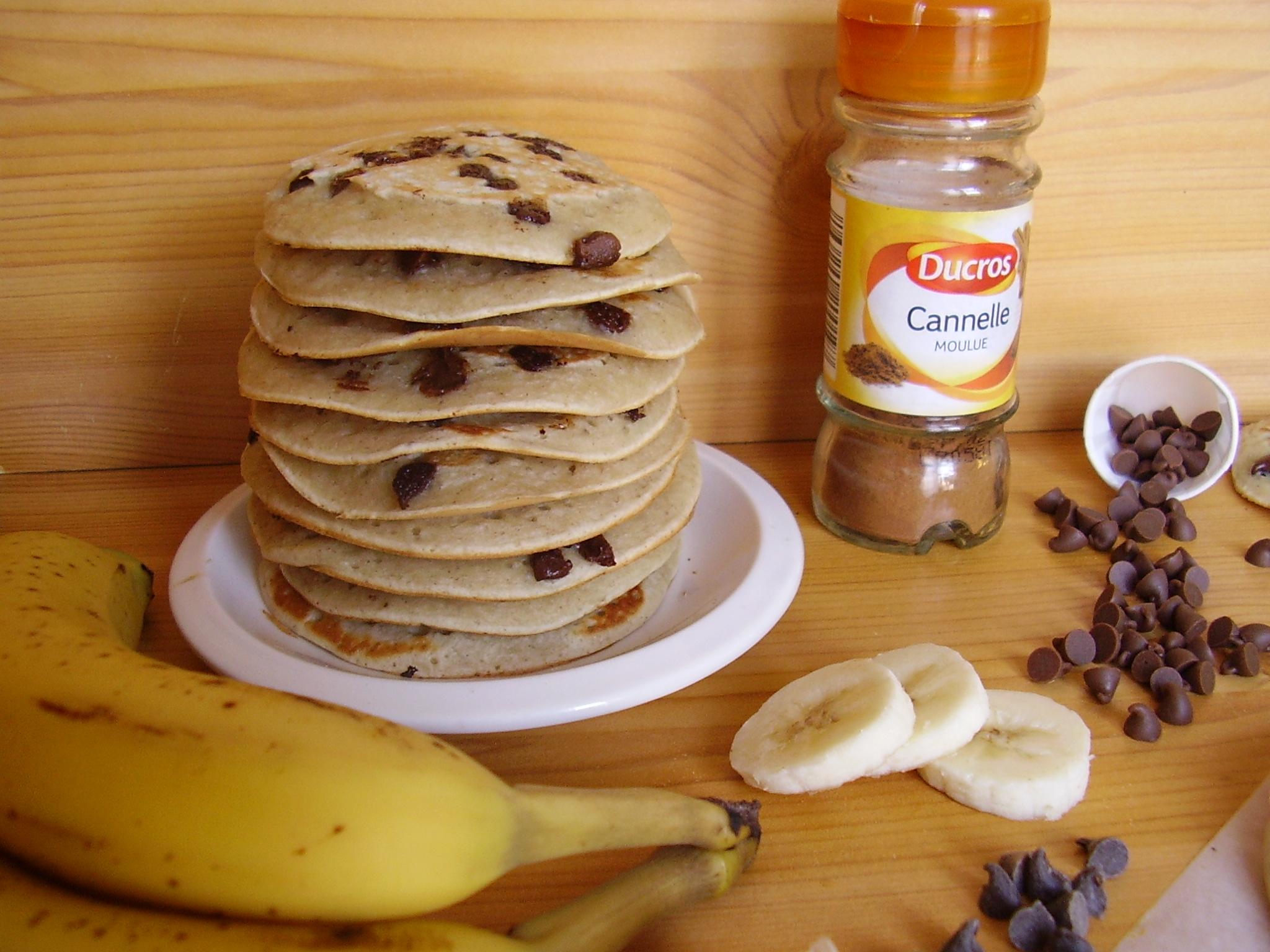Pancakes banane-pépites de chocolat