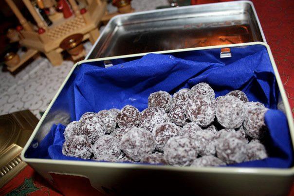Truffes chocolat-noix de coco