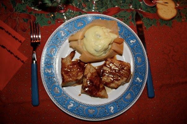 Médaillon de veau, sauce à la vanille [Menu de Noël 2010]