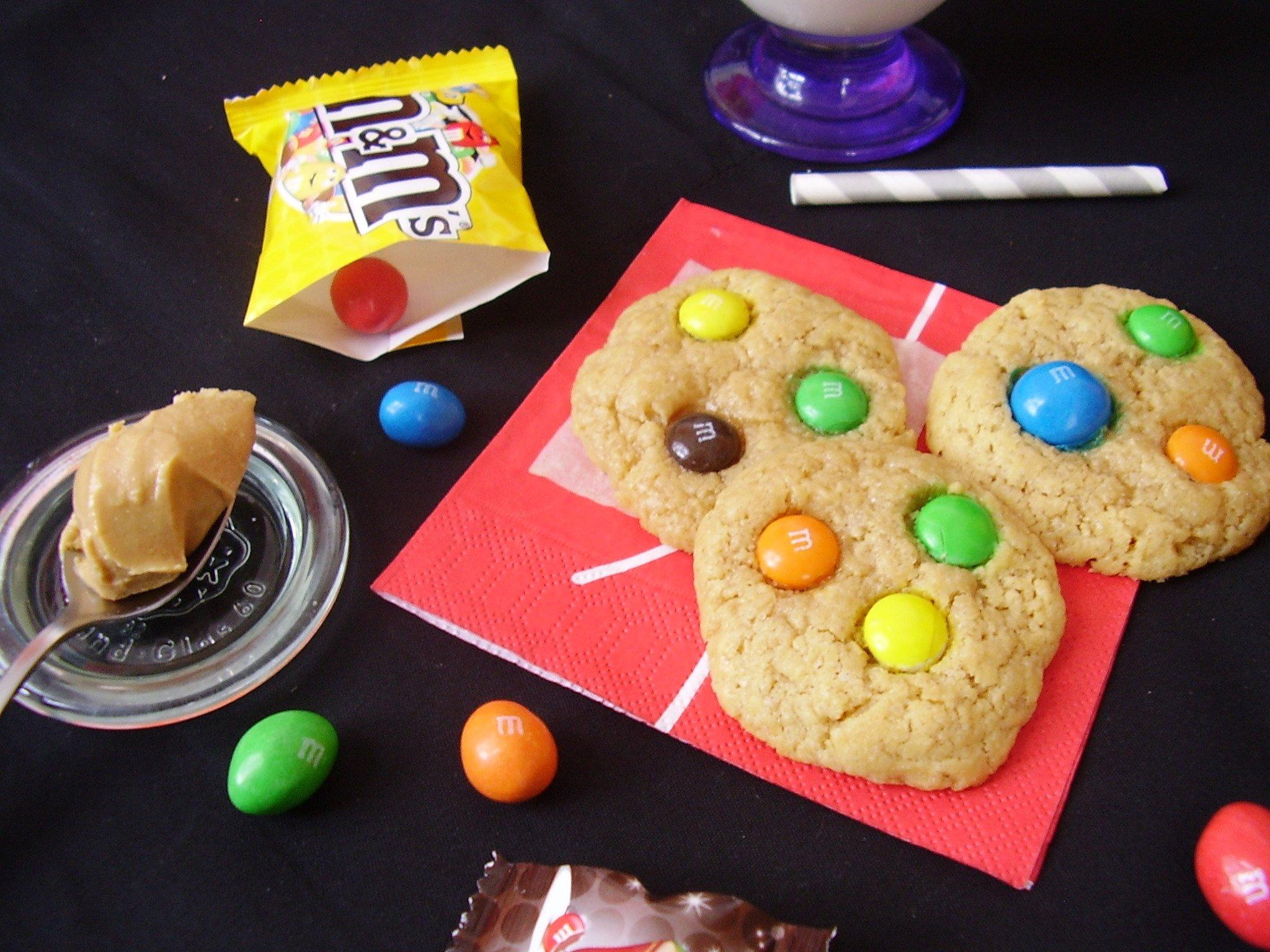 Cookies aux M&M's et beurre de cacahuète