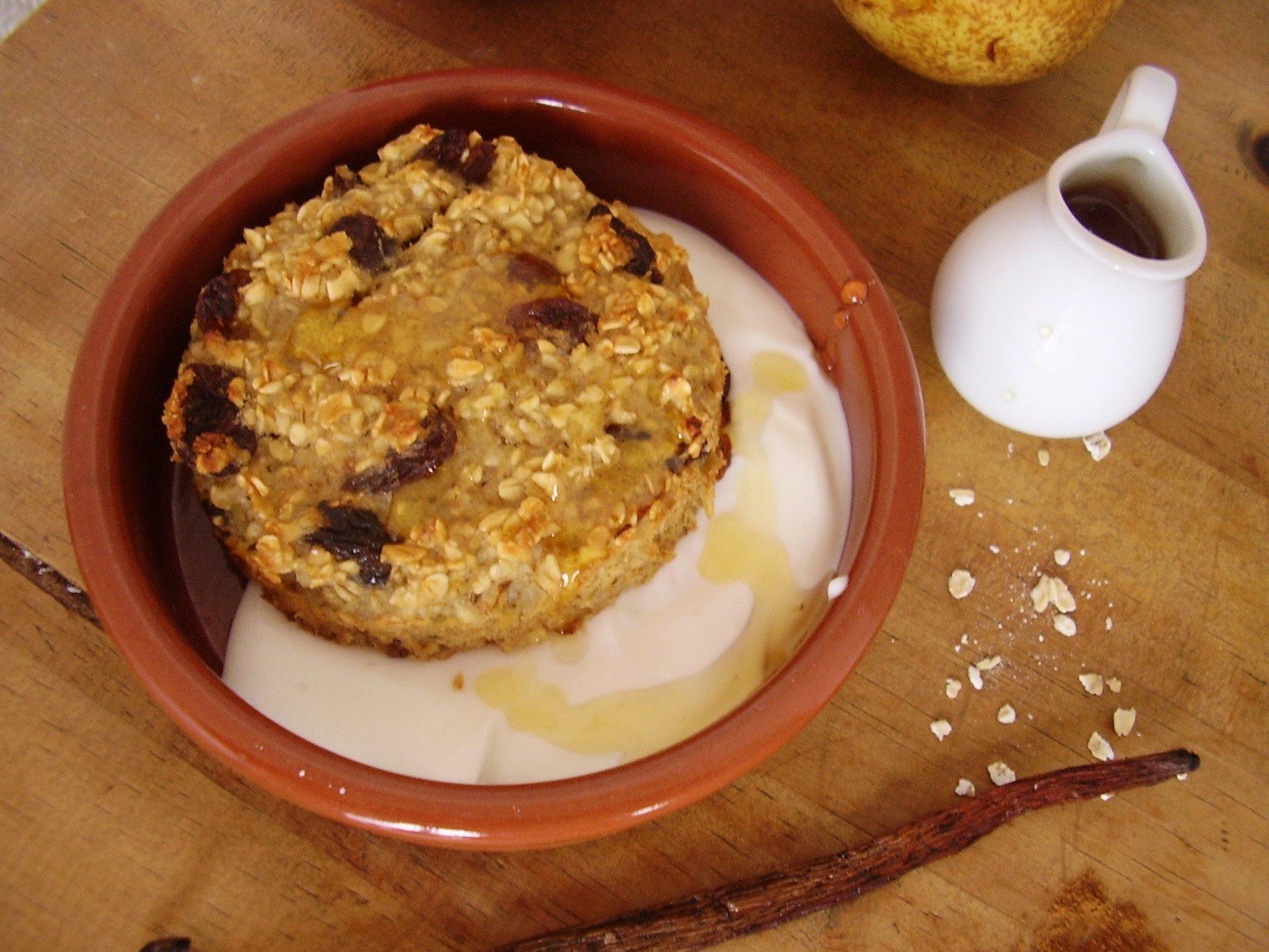 Barre de céréales à la poire et aux raisins secs
