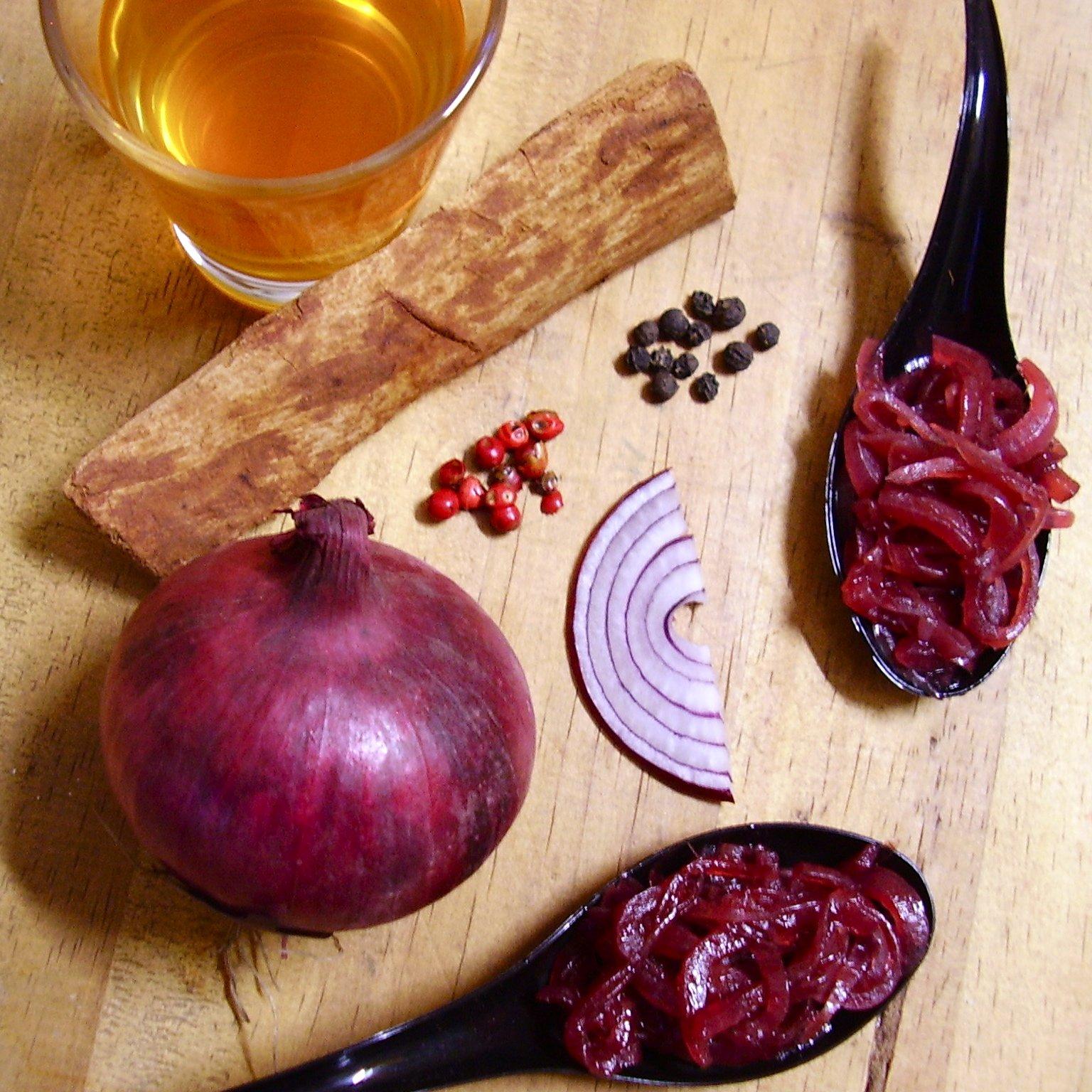 Chutney d'oignons rouges