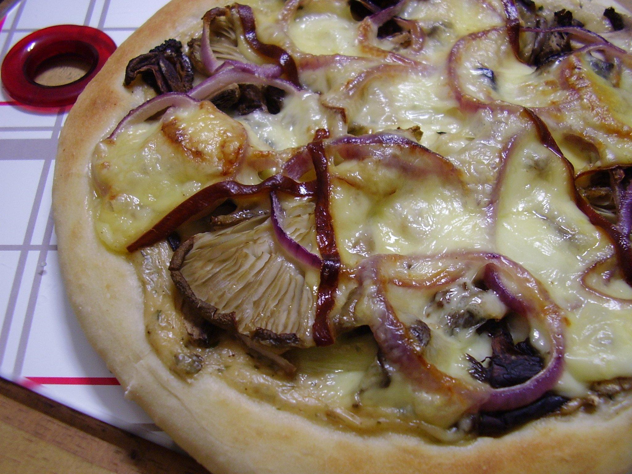 Pizza blanche aux champignons [kit Francine]