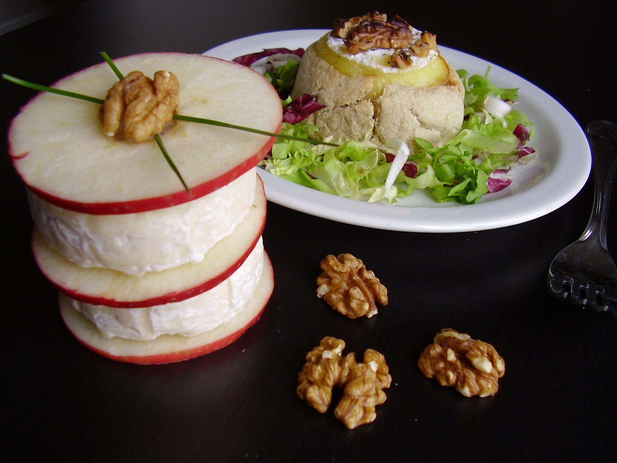 Muffin sucré-salé au Saint Marcellin