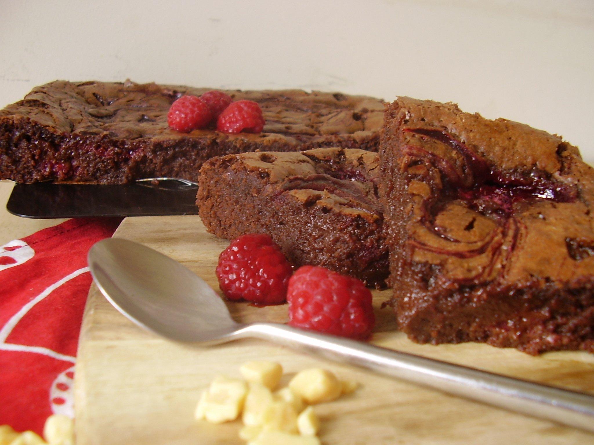 Brownie à la framboise