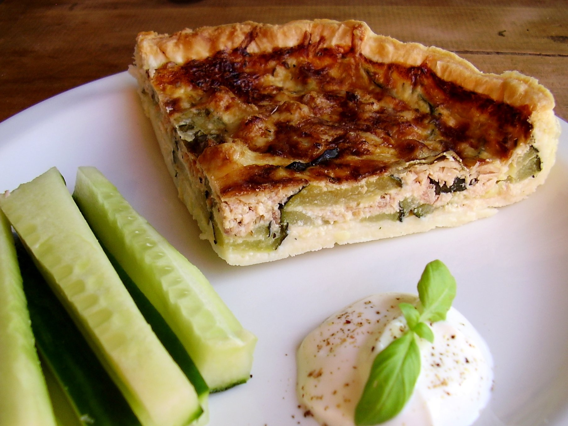 Quiche thon-courgette