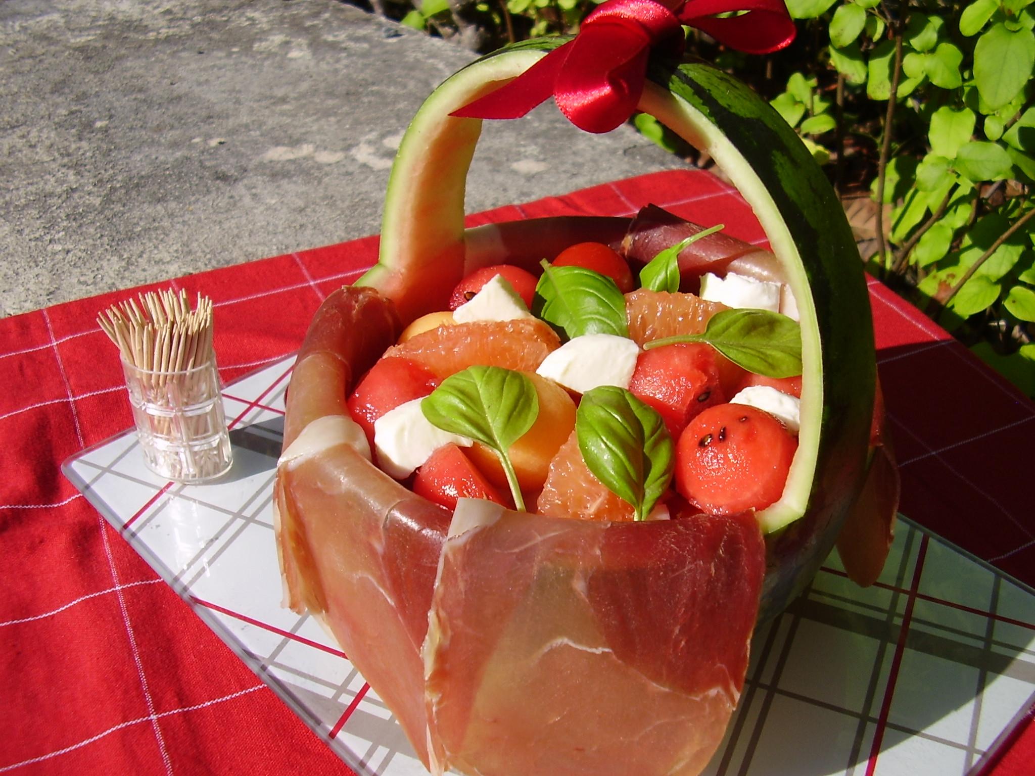 Salade italienne fraîcheur en panier pique-nique [défi]