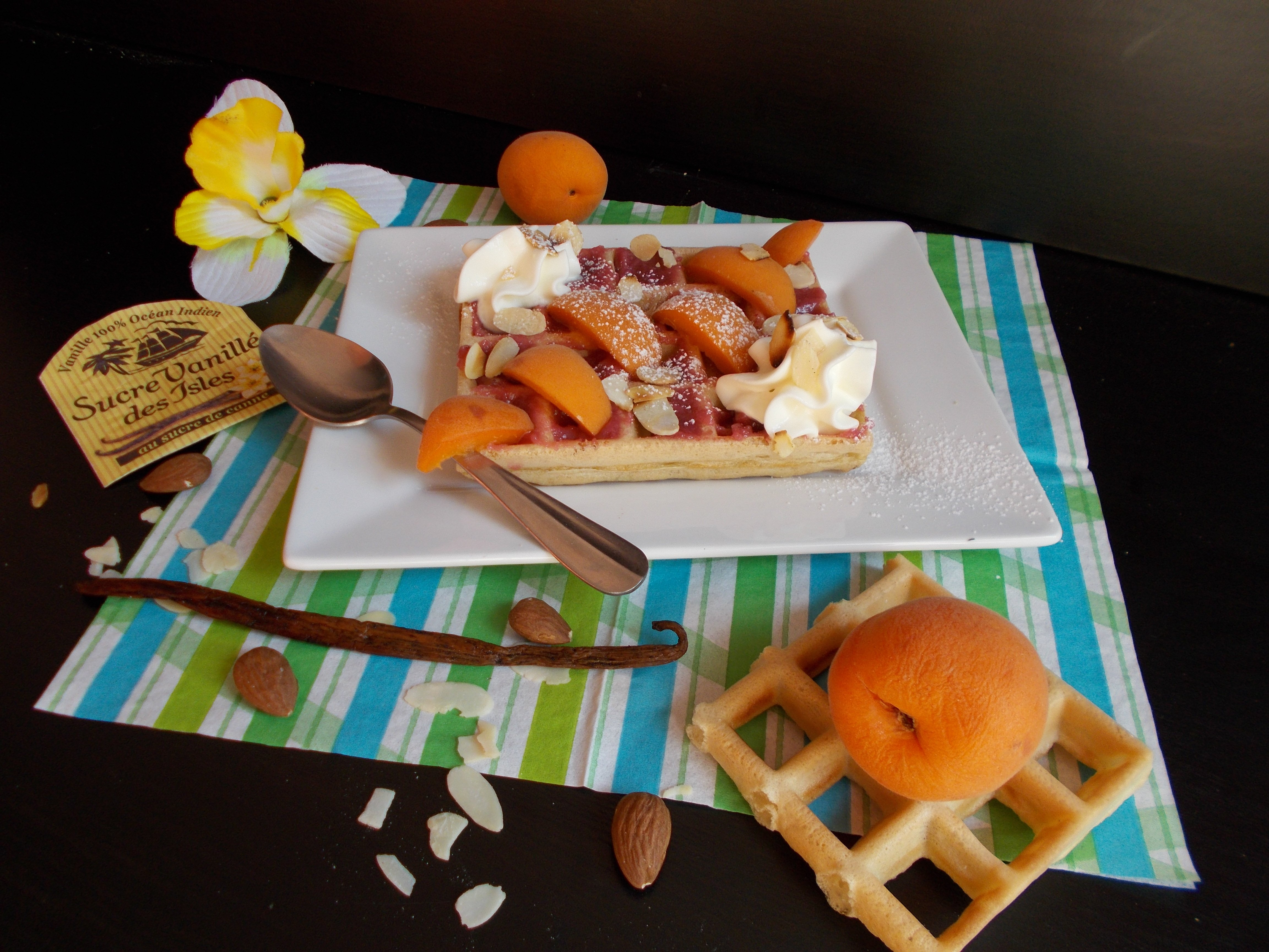 Gaufre framboisine à l'Abricot