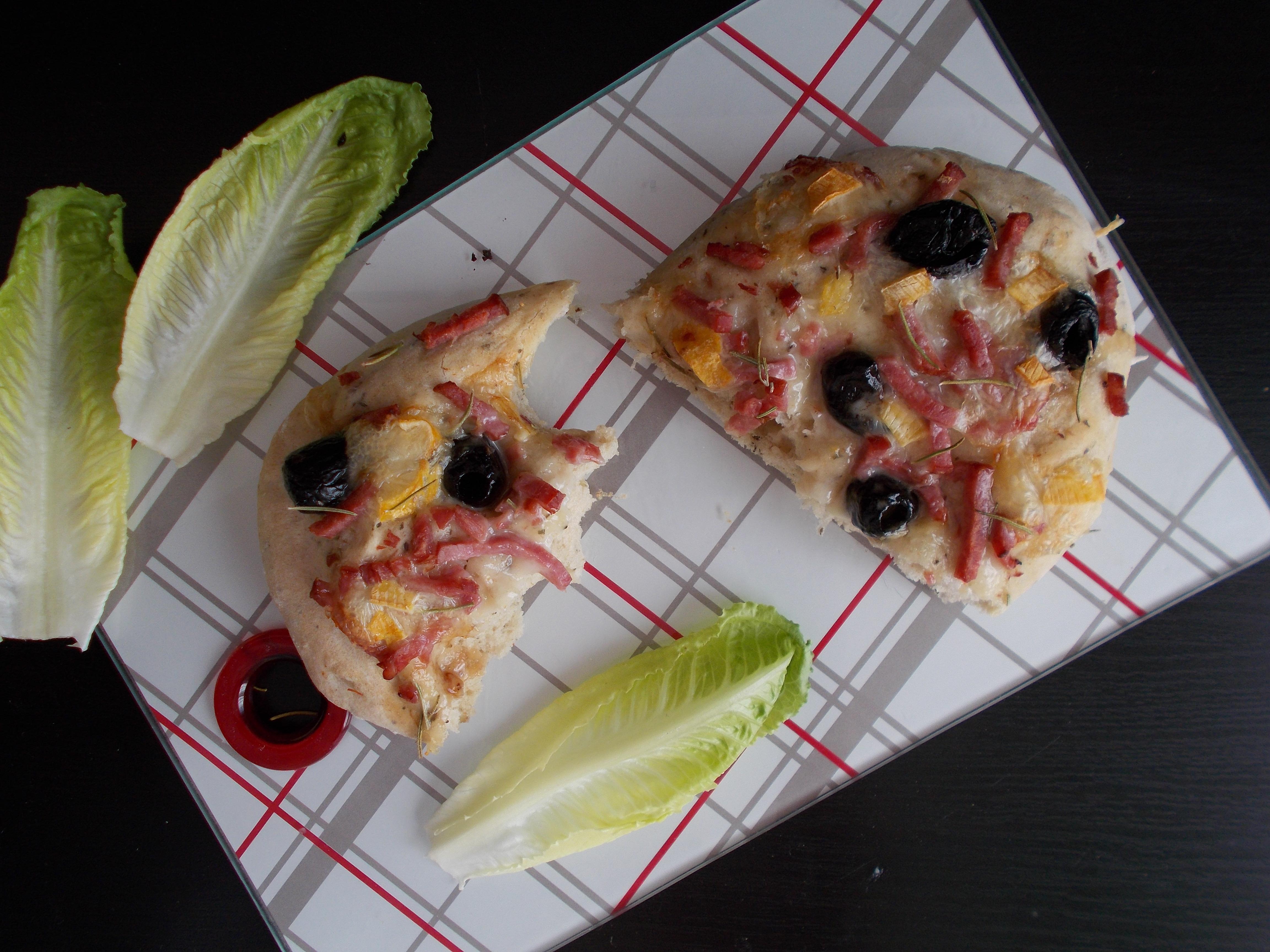 Focaccia ultra moelleuse reblochon, bacon & olive