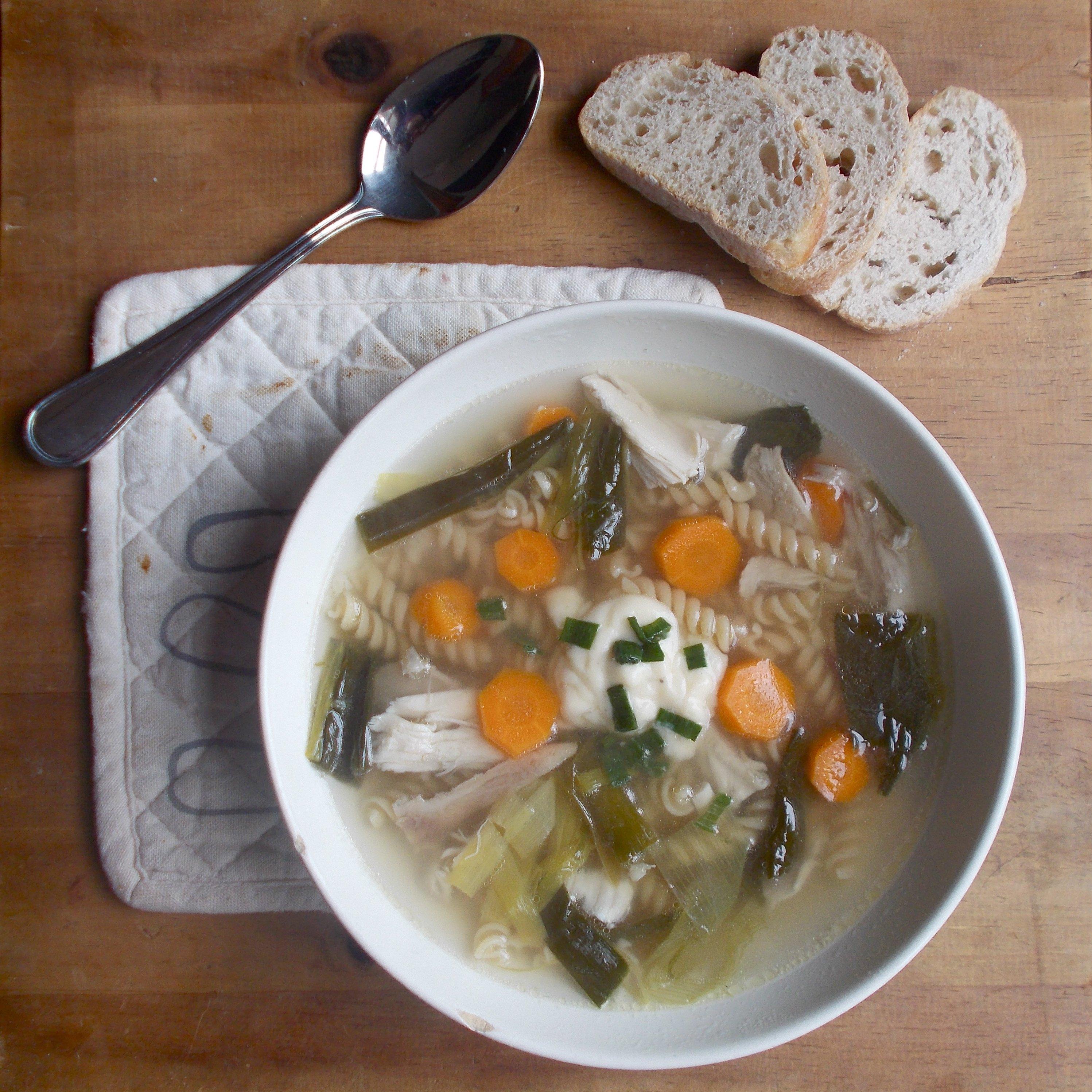 Soupe de Grand-Mère au poulet et vermicelles
