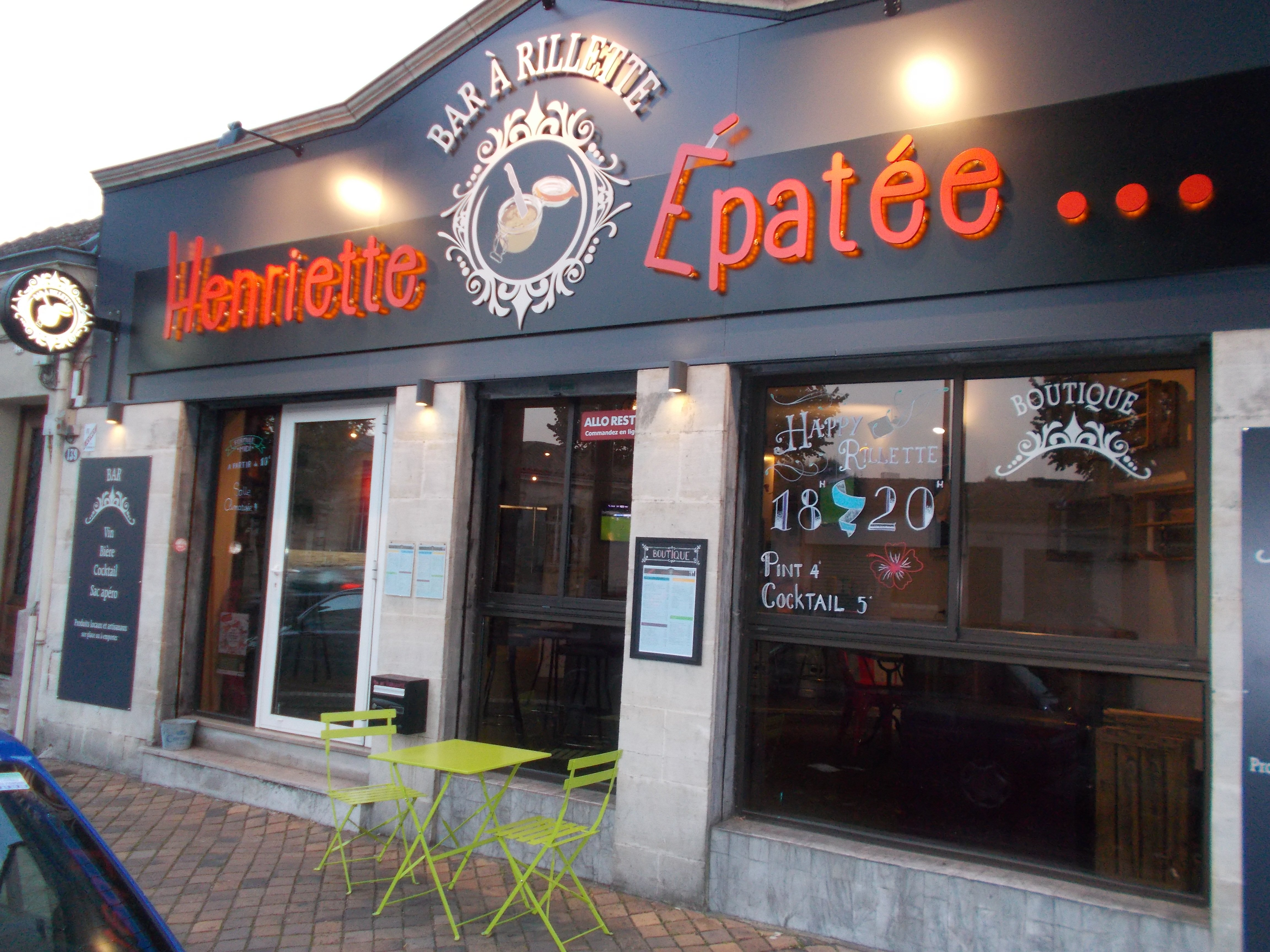Henriette Epatée : le concept innovant du bar à rillettes !
