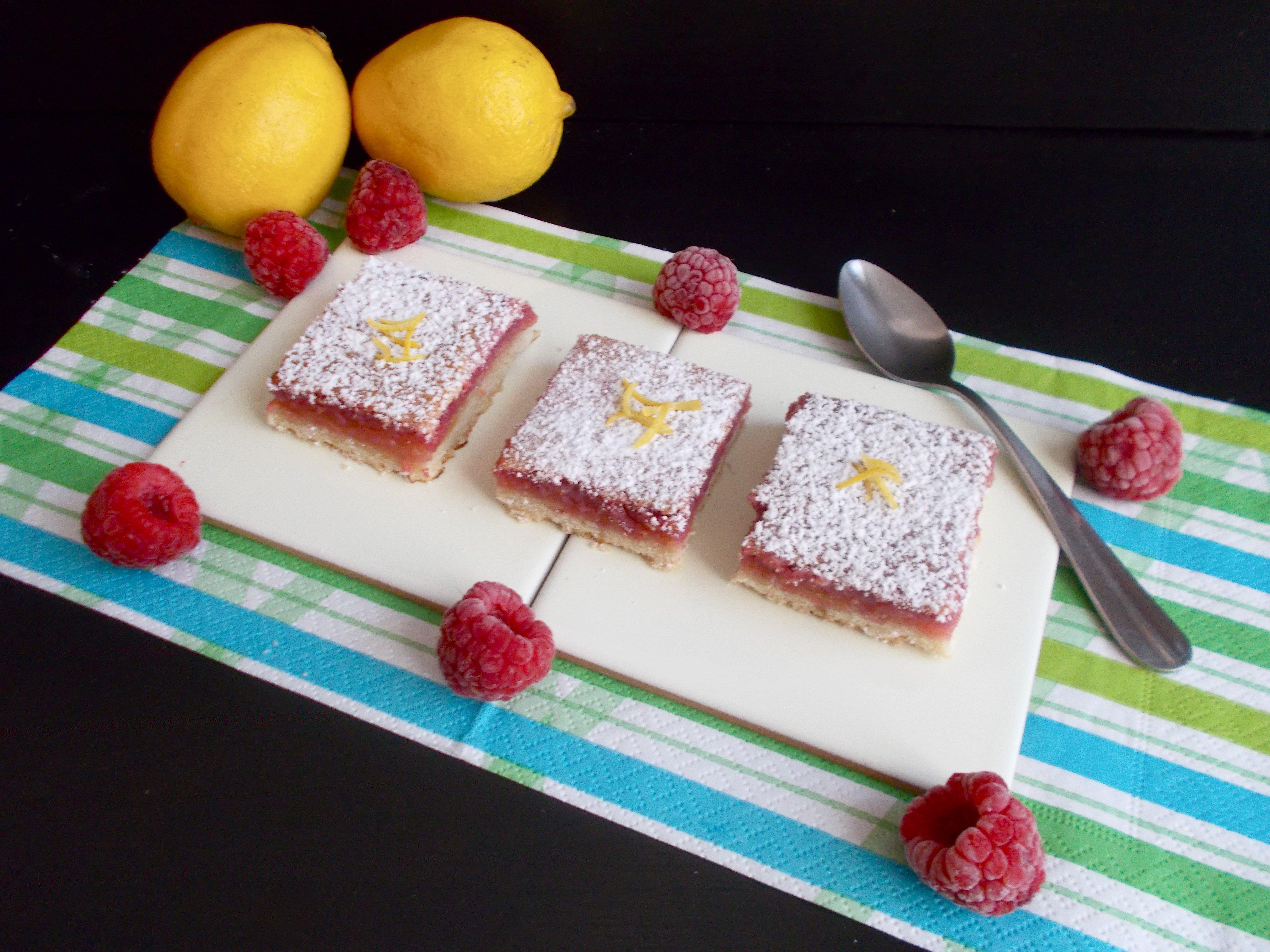 Lemon & Raspberry bars