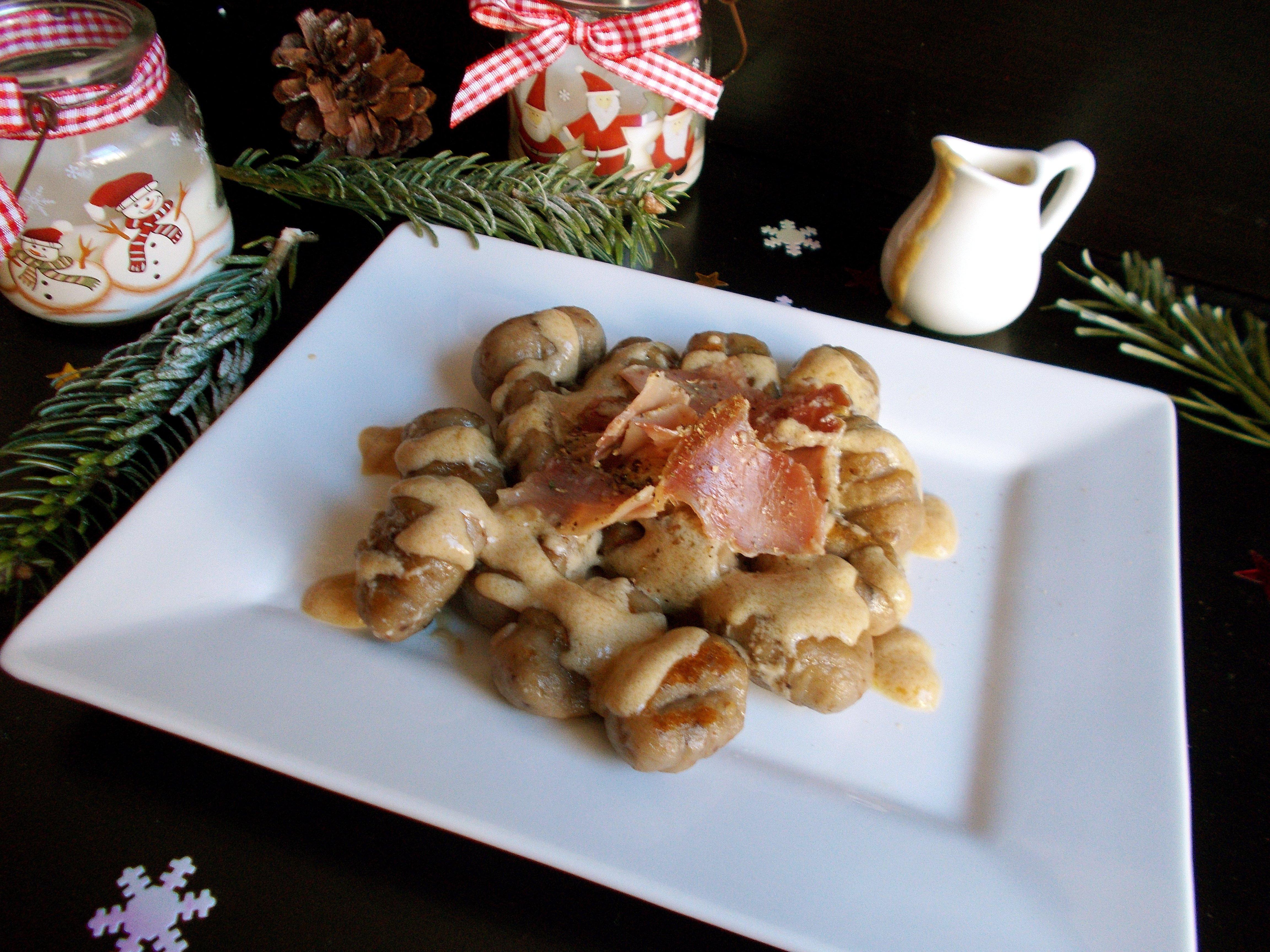 Gnocchi à la châtaigne sauce au foie gras