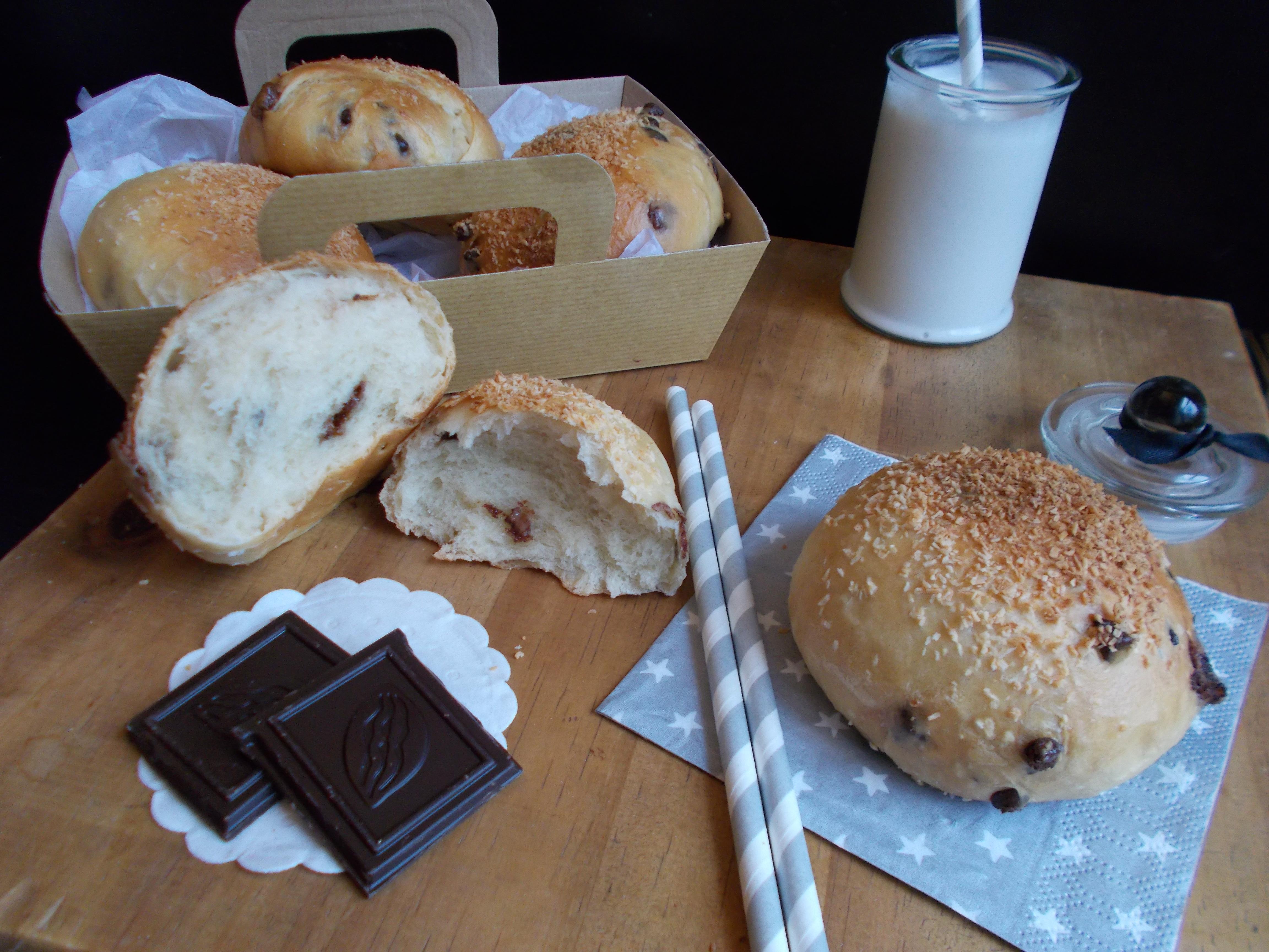 Briochette noix de coco et chocolat