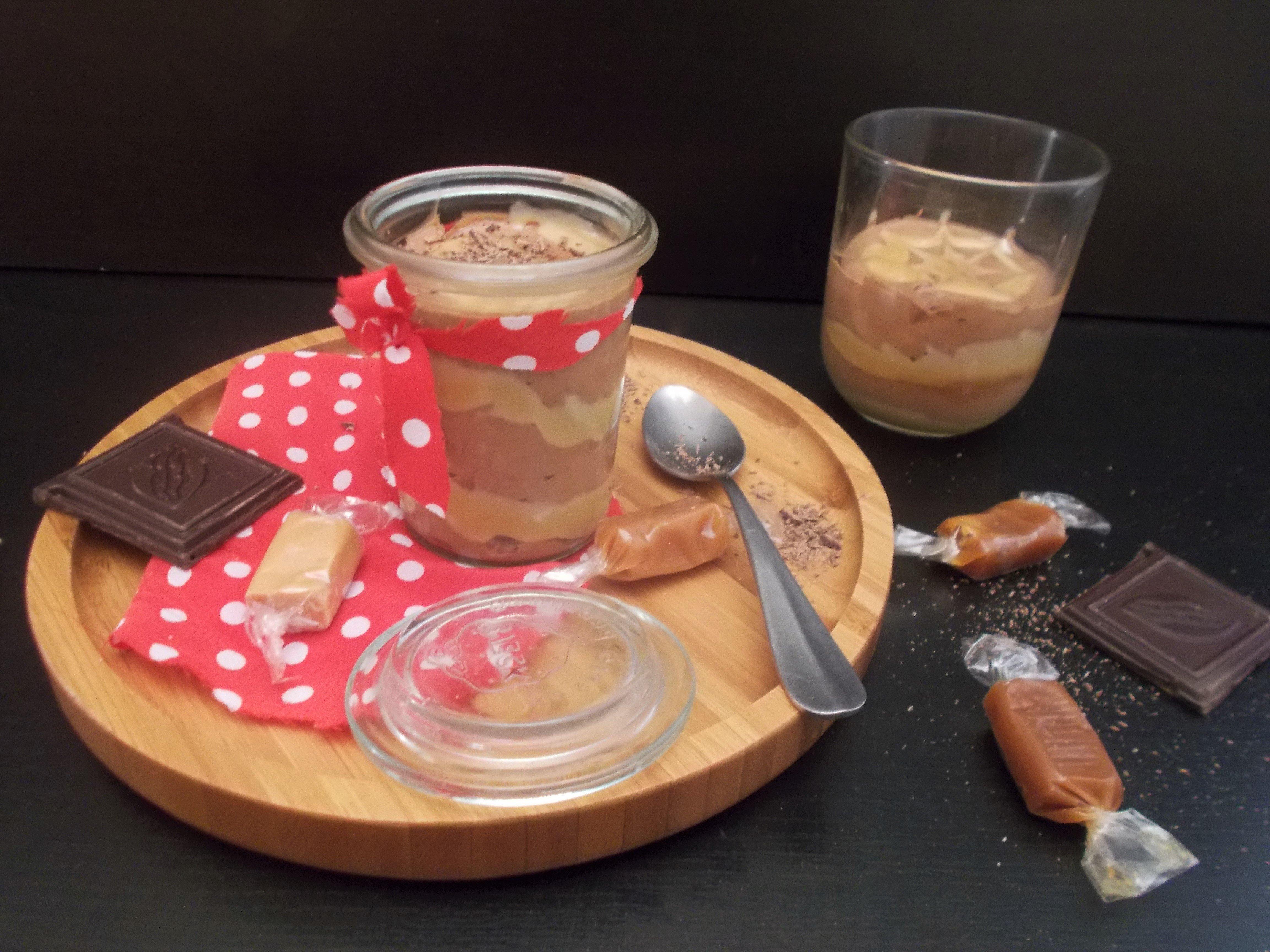 Brunch dominical #6 : mousse au chocolat marbrée caramel