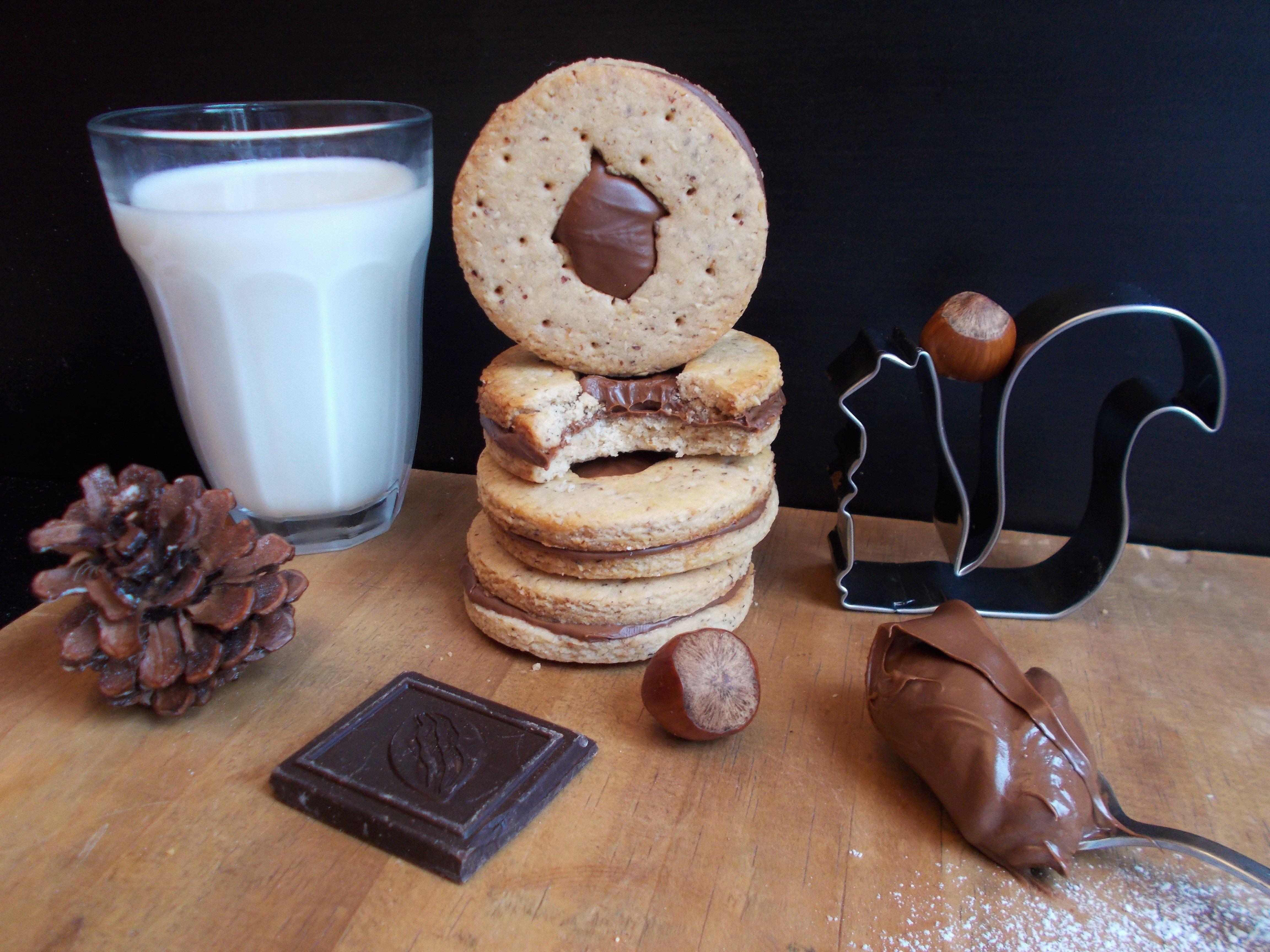 Biscuits fourrés à la noisette