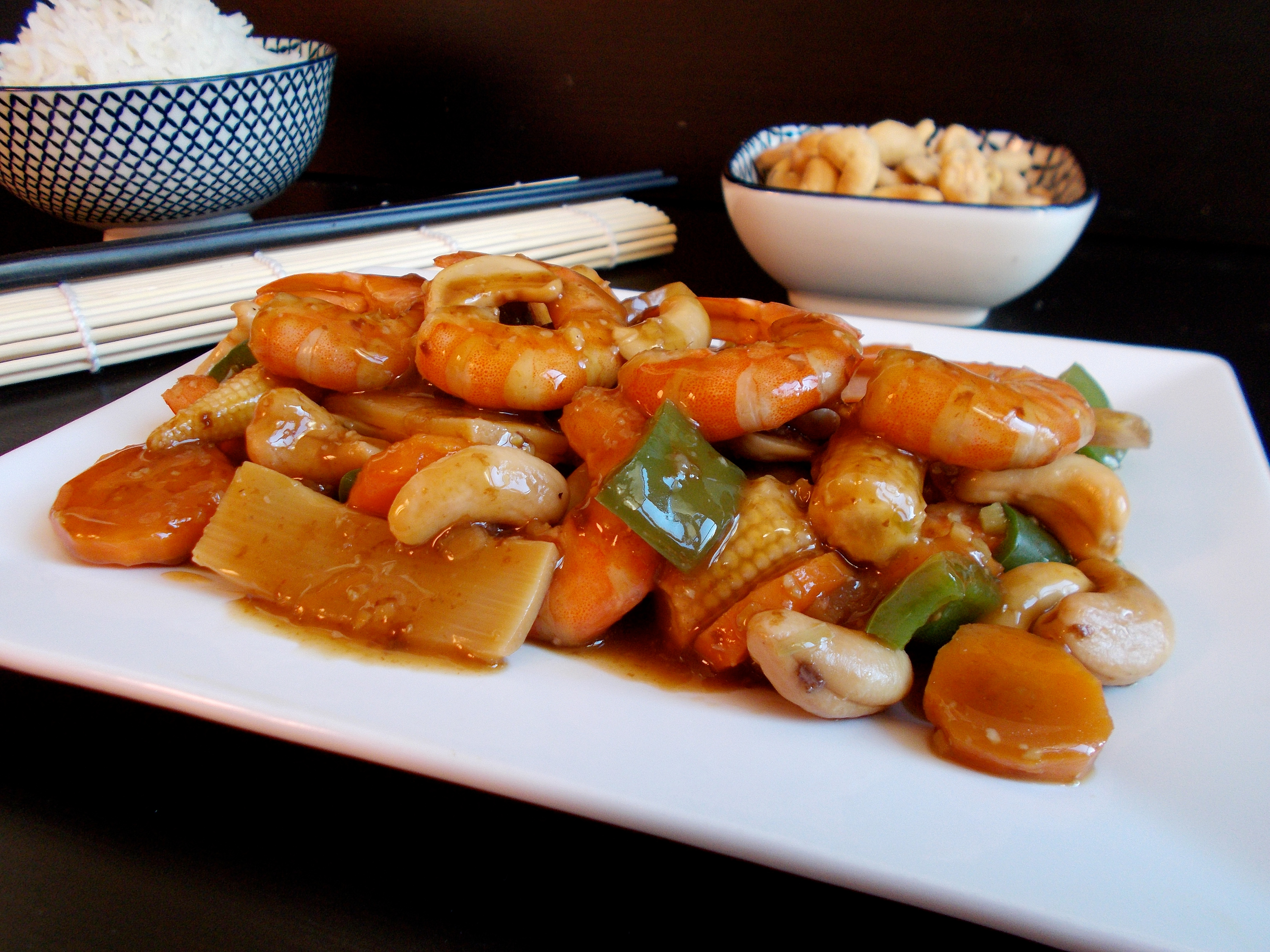 Crevettes aux noix de cajou