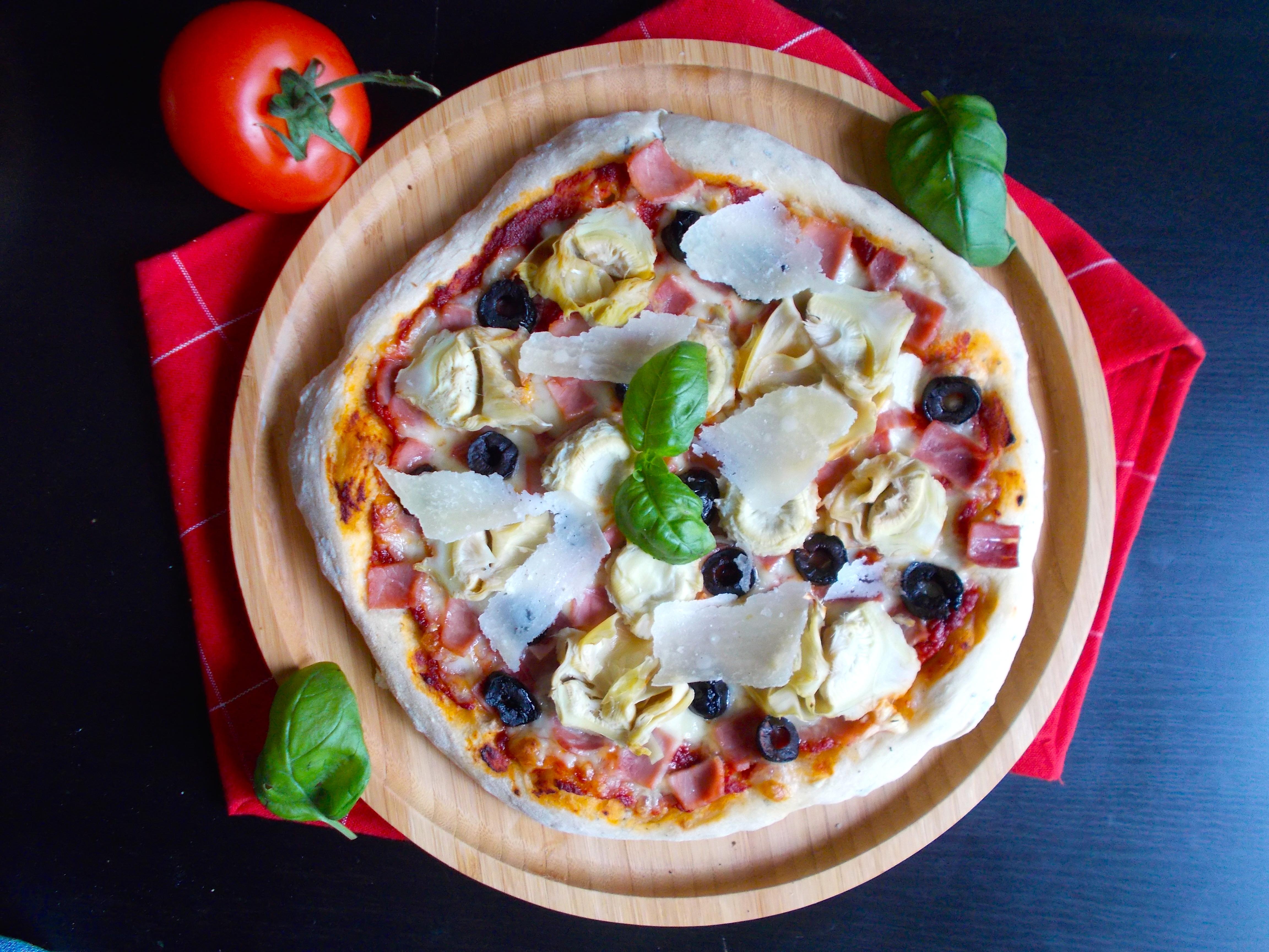 Pizza artichaut et jambon blanc [maturation 48h]