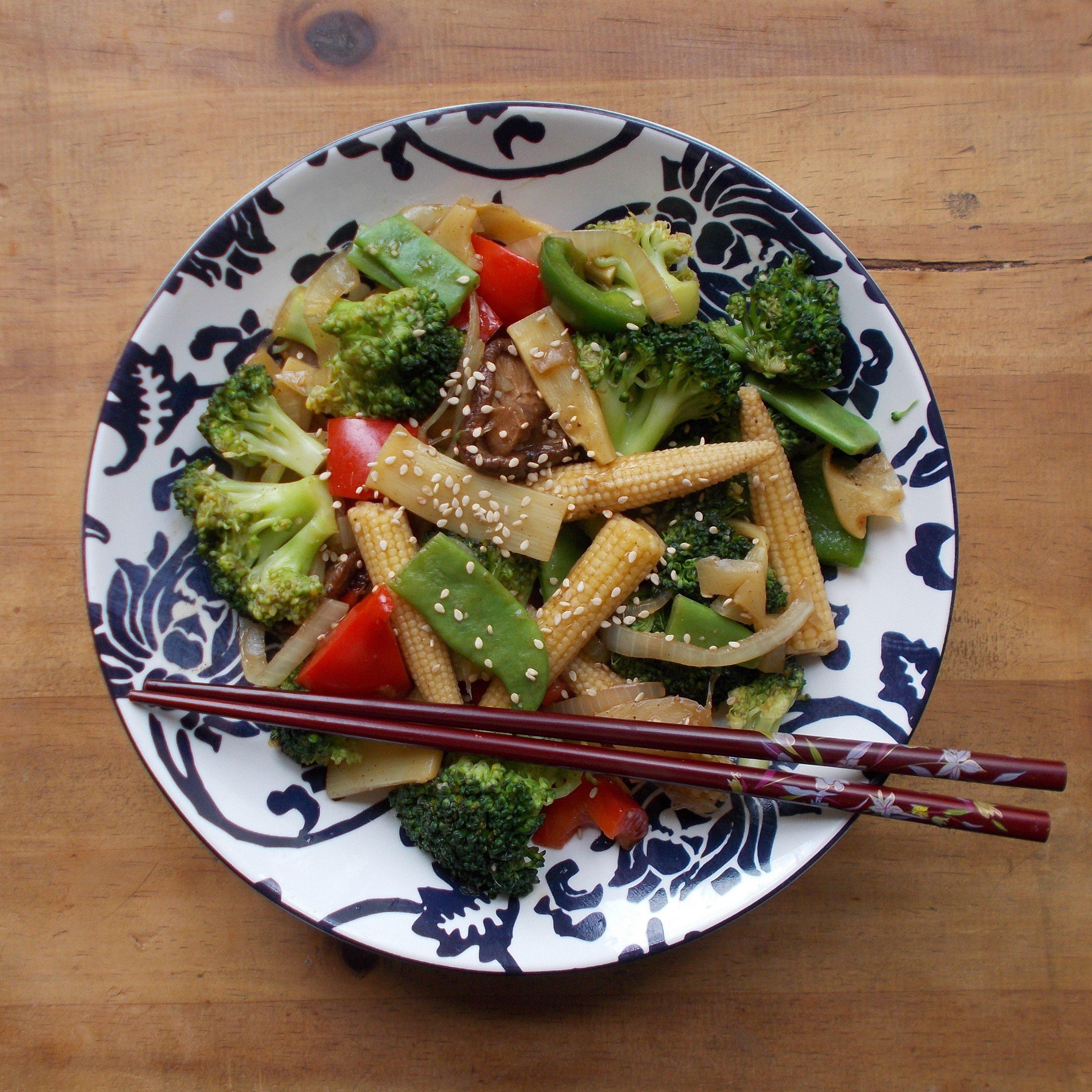 Poêlée asiatique : légumes sautés au wok