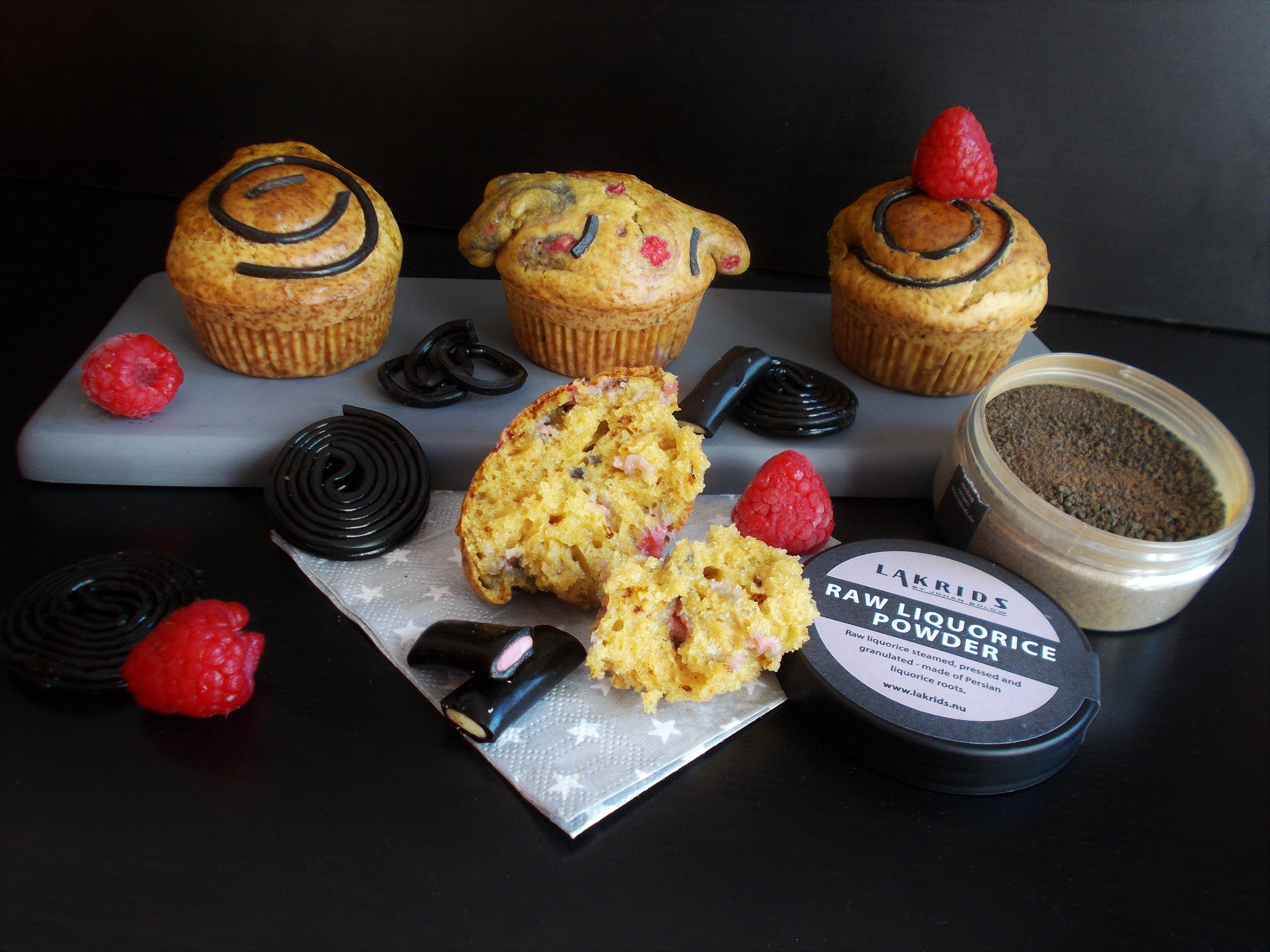 Muffin framboise-réglisse