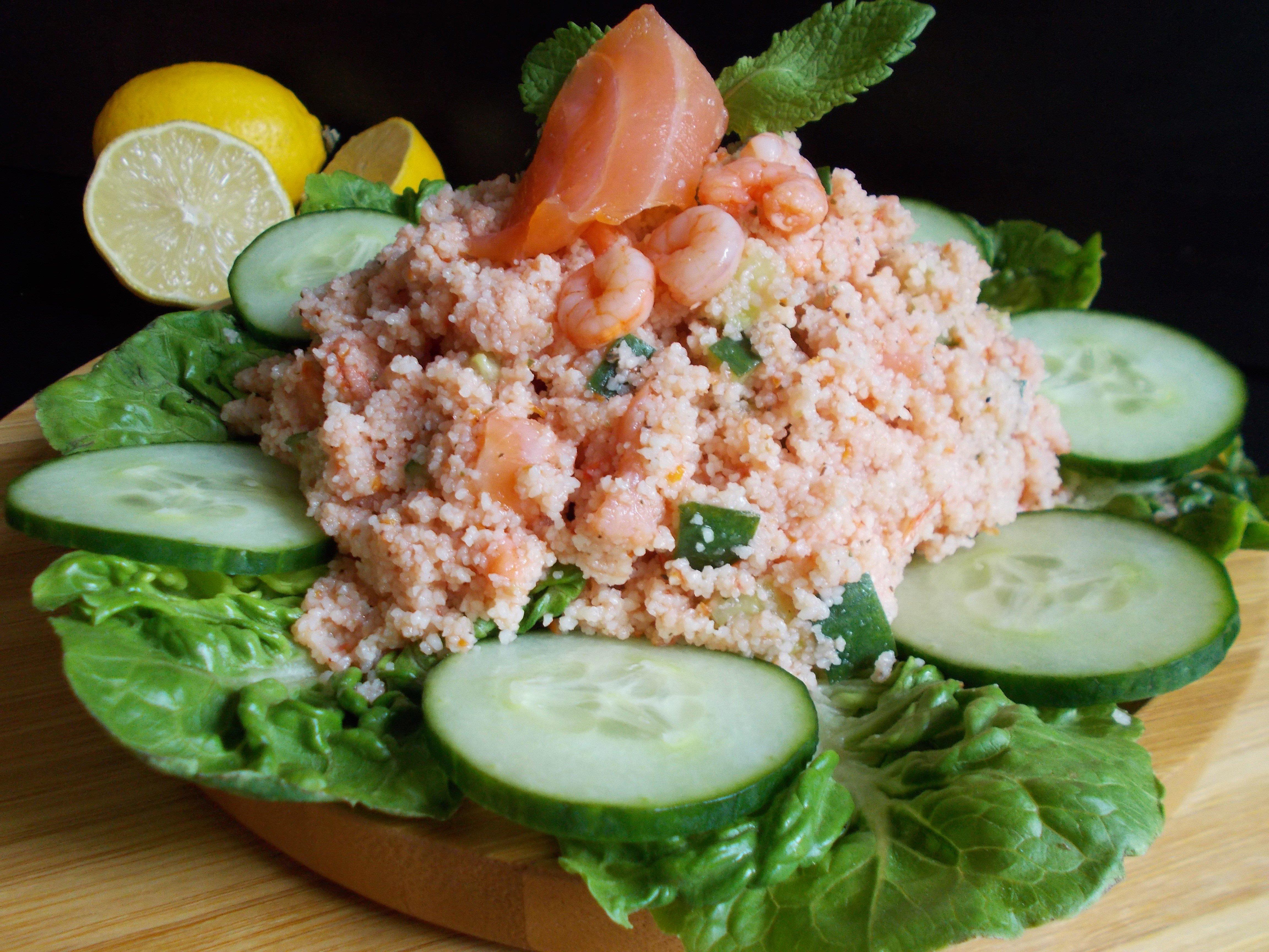 Taboulé de la mer (saumon, crevette et estragon)
