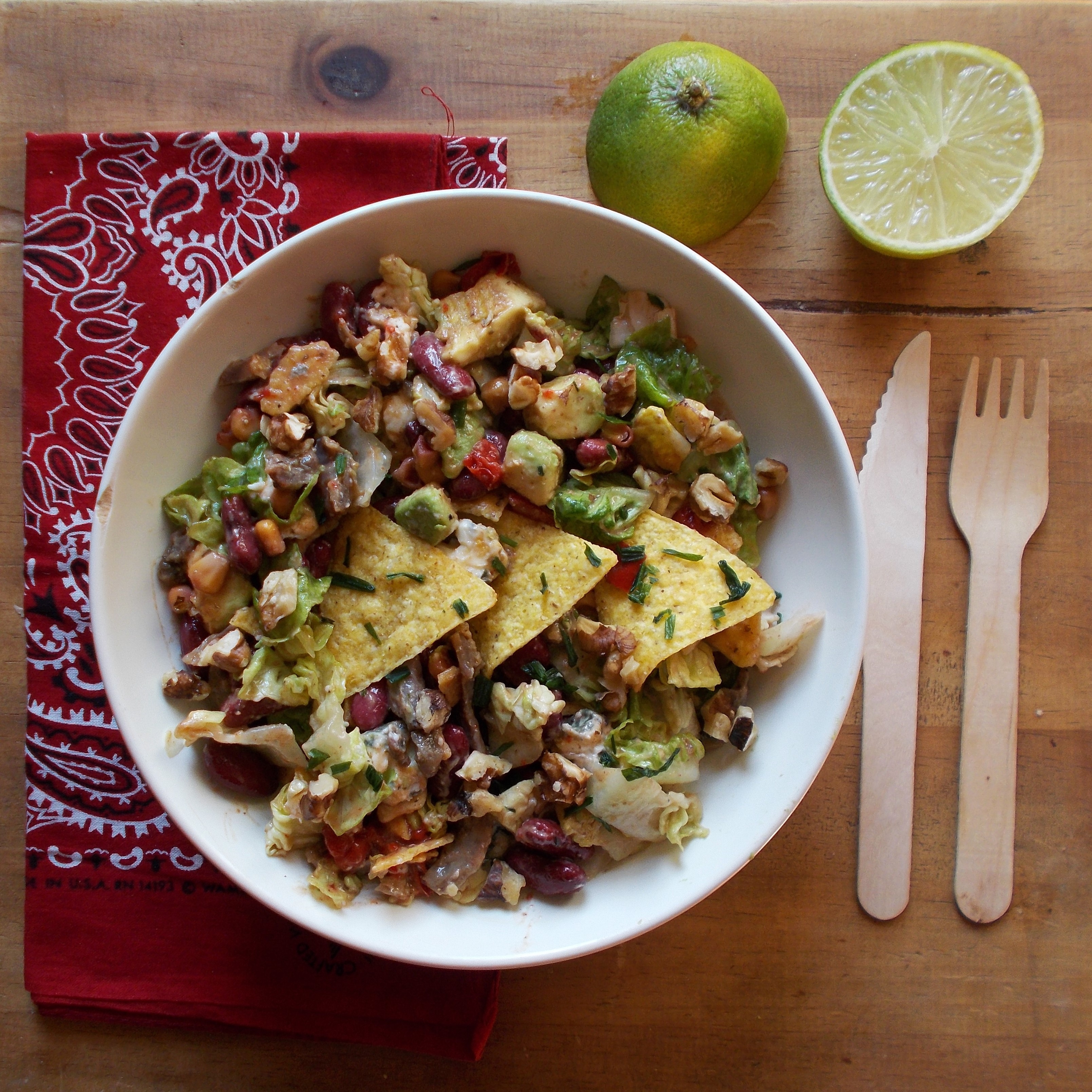 Salade tex-mex au confit de canard